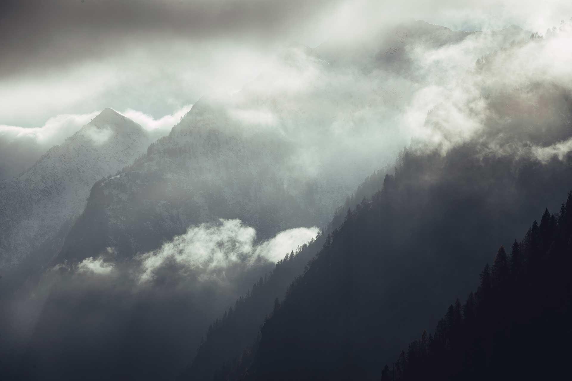 Berge Wolken Outdoor Fotograf Frankfurt