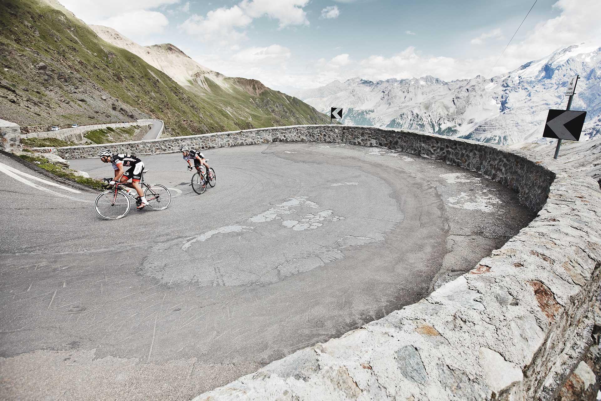 Sport Aktion Fahrrad Rennrad Fotografie Stilfser Joch Deutschland München