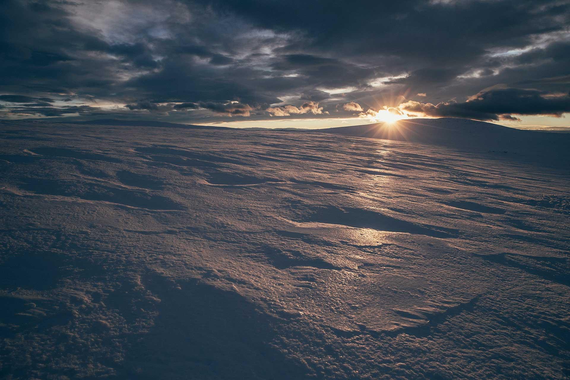 Schneelandschaft Wintersport Langlauf Norwegen Nationalpark