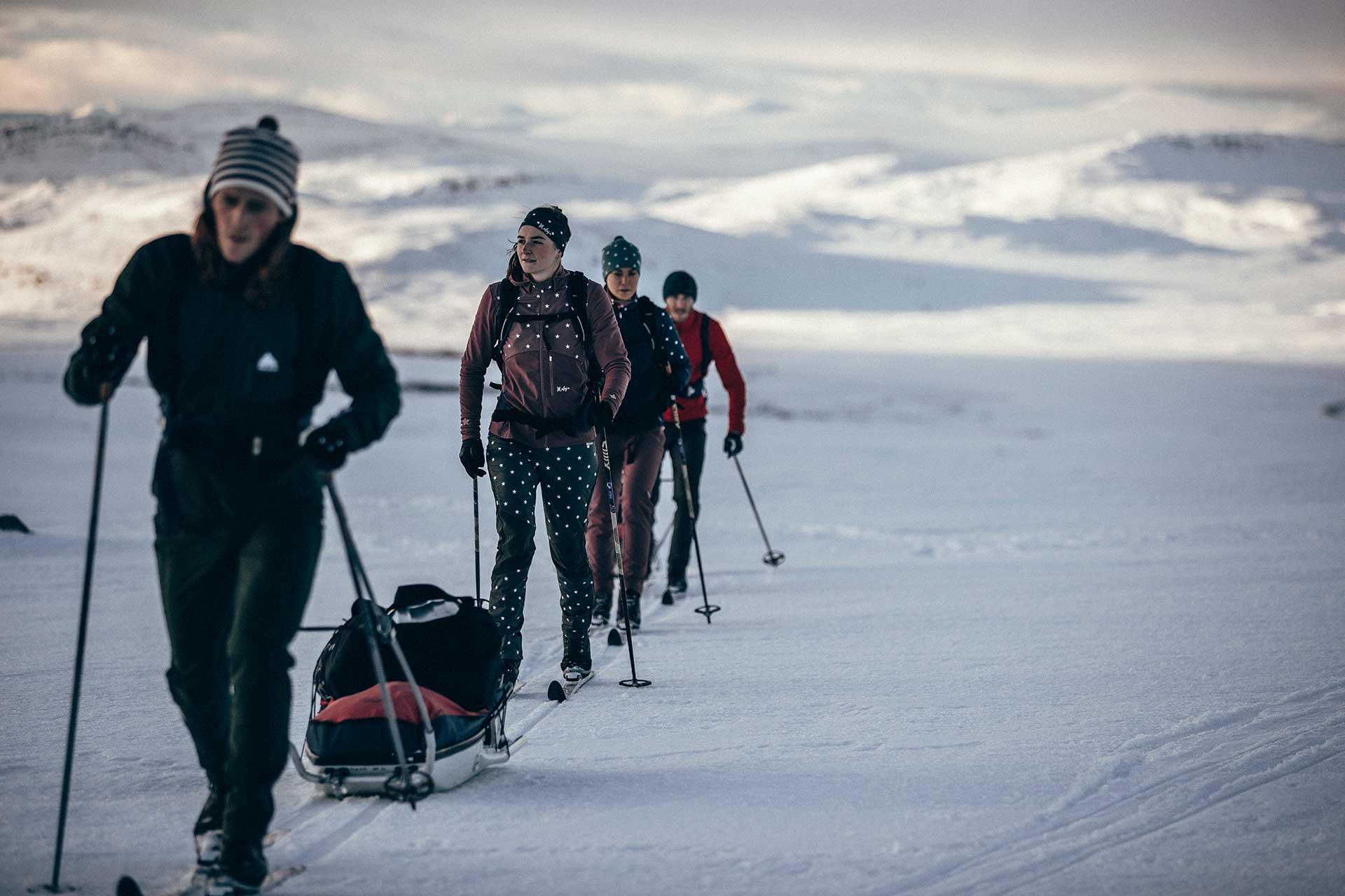 Ski Tour Langlauf Winter Fotograf Schnee Horizont