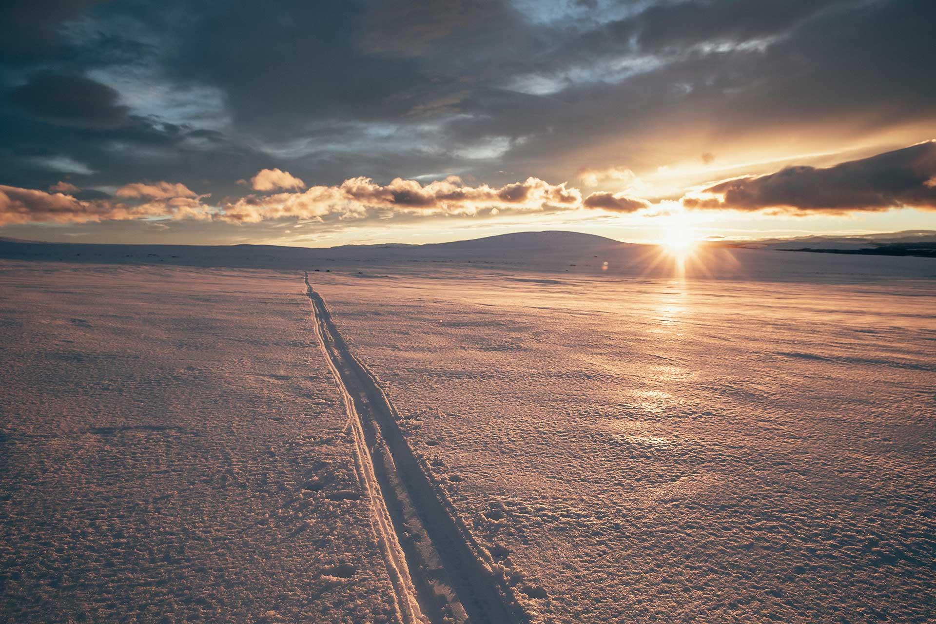 Sonnenaufgang Landschaft Horizont Winterlandschaft Fjell Ski Norwegen Fotograf