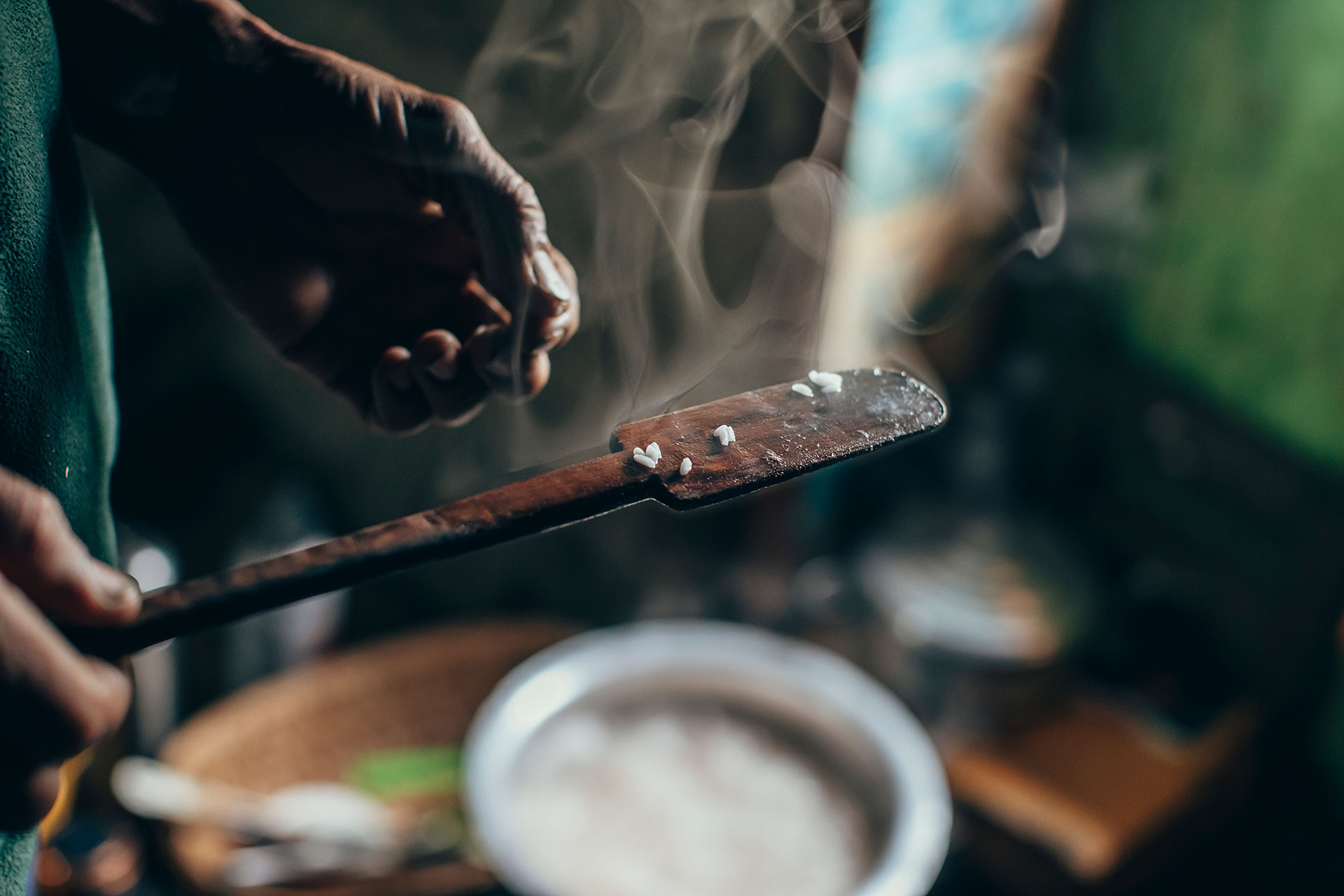 Detail Fotograf Food Kochen Trekking Bhutan People Reis Laya Reisen