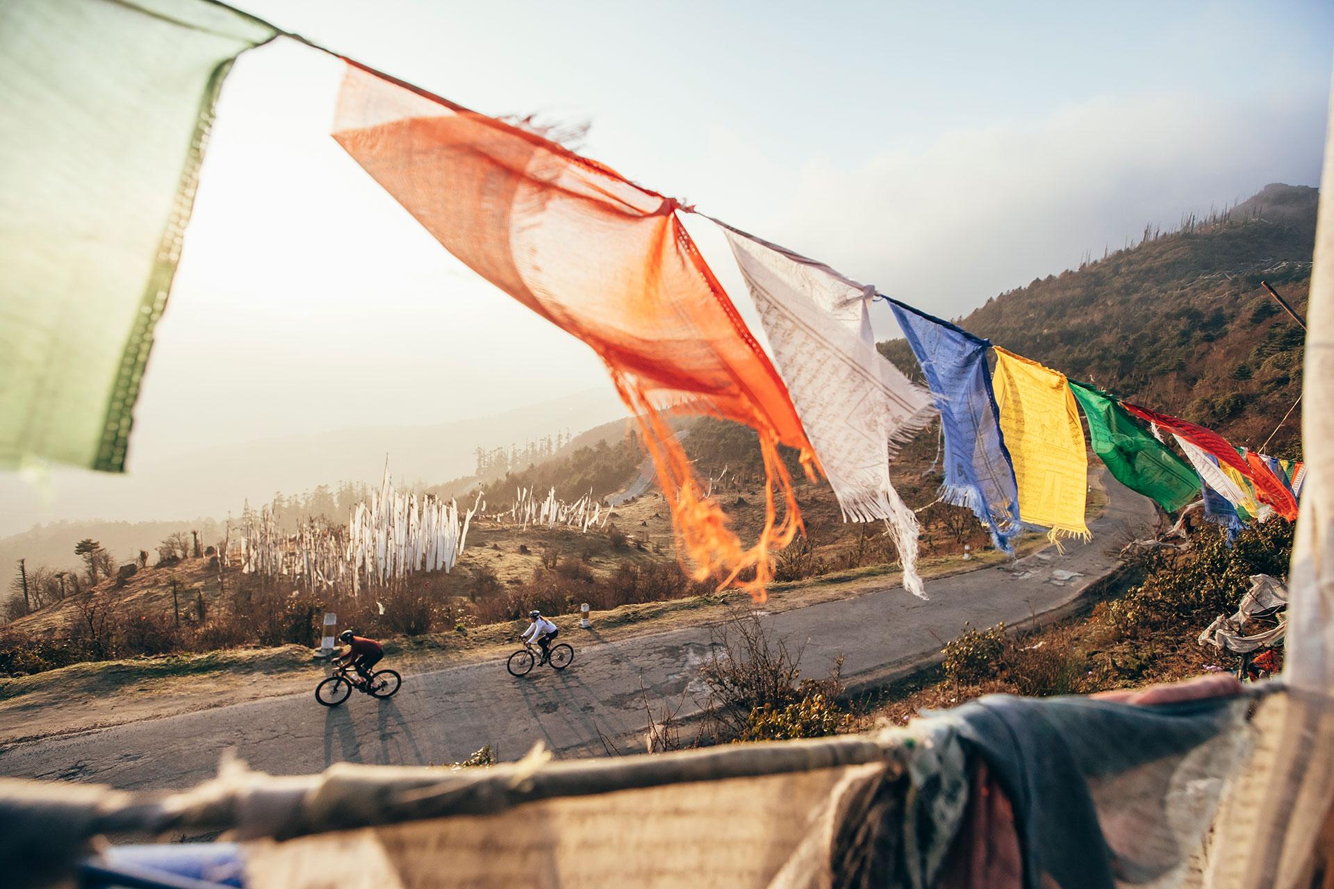 Fotograf Rennrad Reise Landschaft Chelata Bhutan Himalaya Asien
