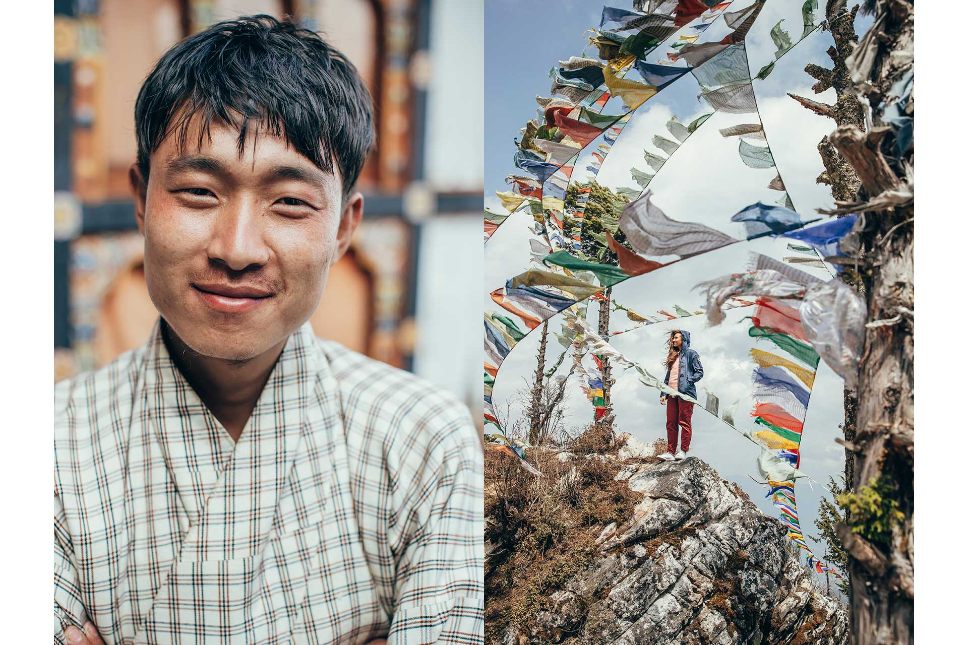 Reise Fotograf Gebetsfahnen Bhutan Himalaya Maloja Katalogproduktion London