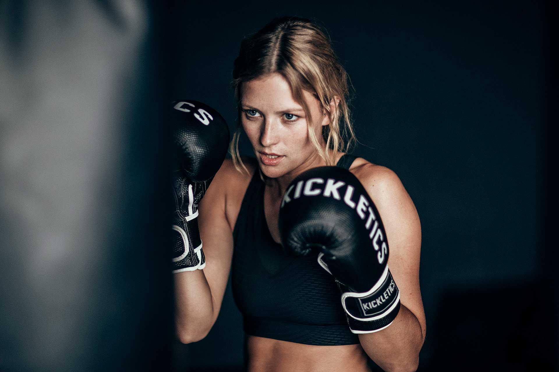 Sportmodel Boxen Frau Fitness Training Fokus Odlo Fotograf Michael Müller