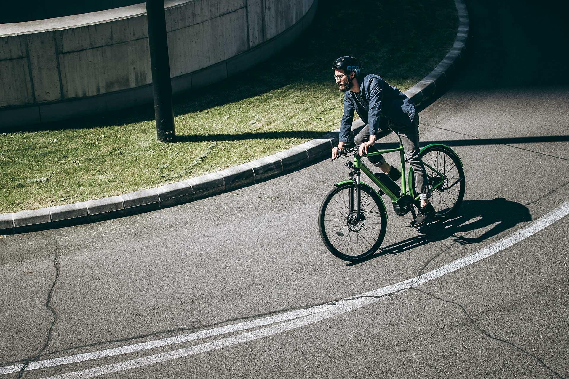 Fotograf Fahrradfahrer Ebike Lifestyle Sport Urban Kampagne Wien