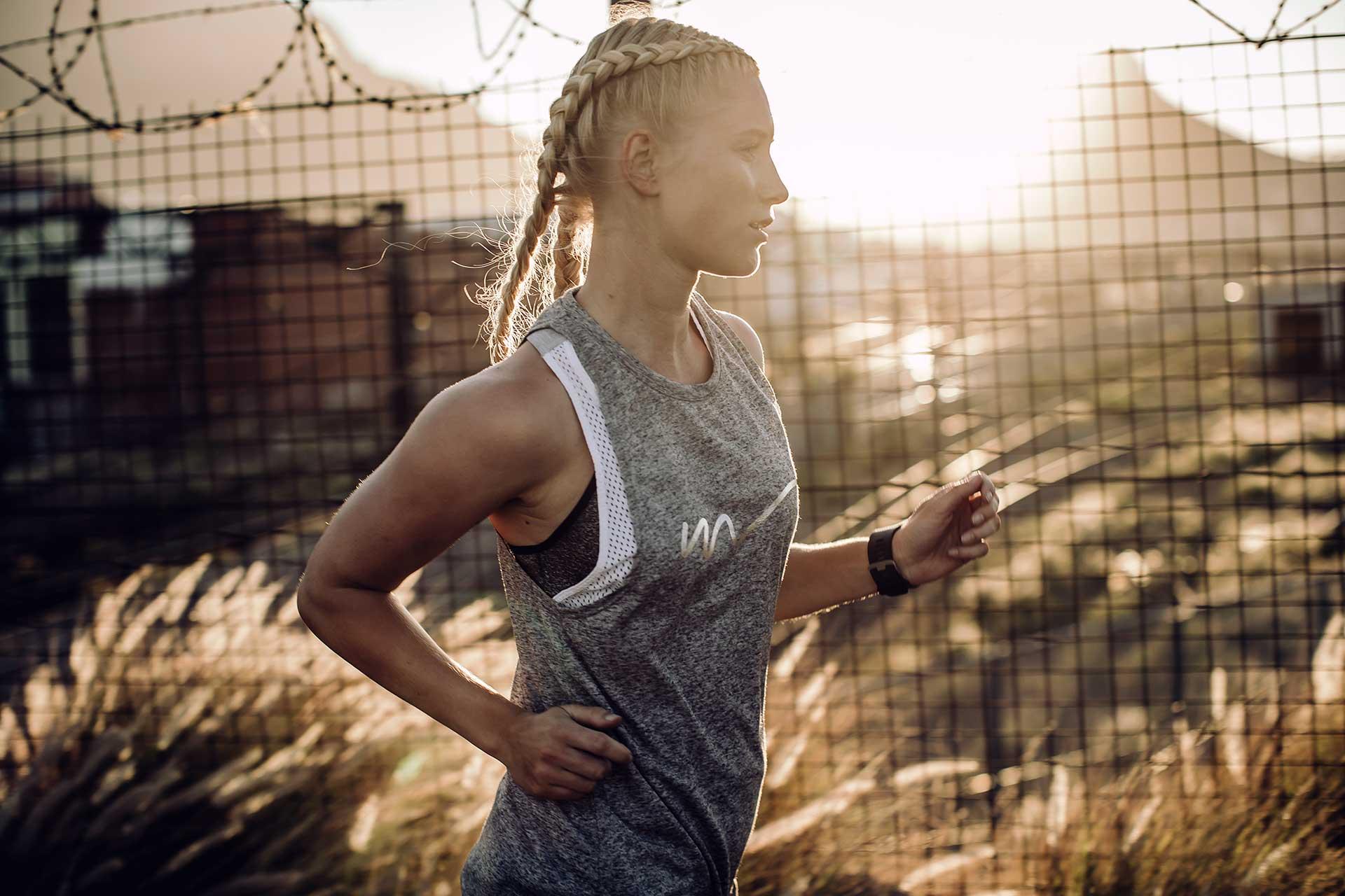 Gegenlicht Sonnenuntergang Fotograf Running Laufsport Training Fitness USA New York
