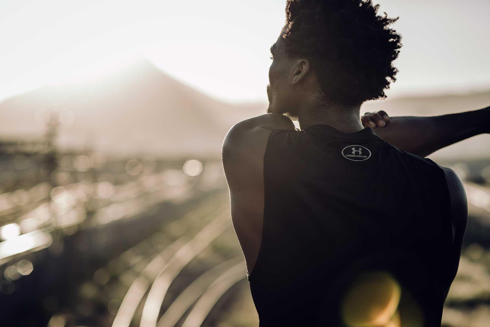 Fotograf Dehnen Sport Training Fitness Kapstadt Südafrika Running
