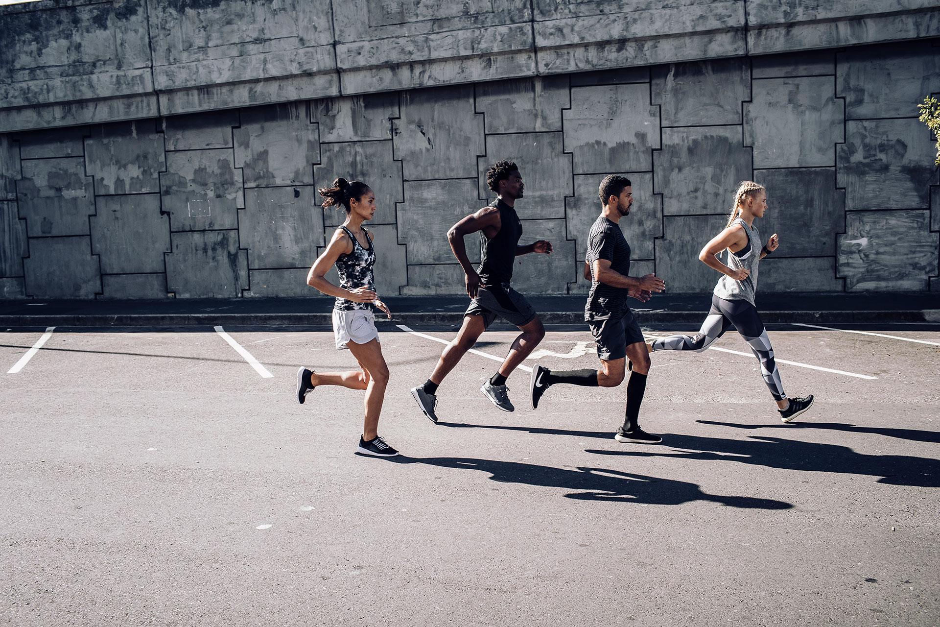 Running Gruppe Fotograf Sport Training Kapstadt Südafrika