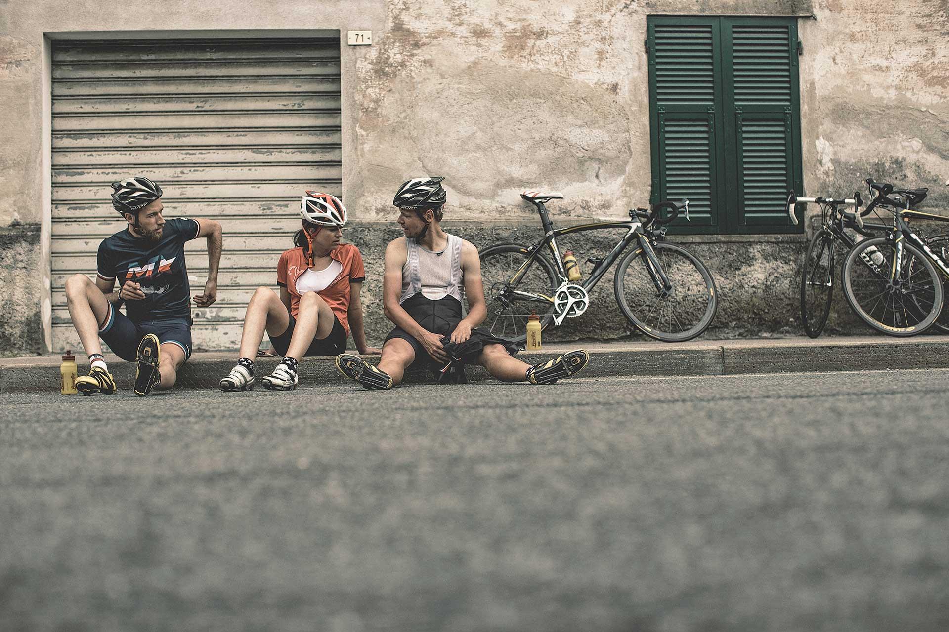 Sport Outdoor Fitness Rennrad Fotograf Pause San Remo Fahrrad