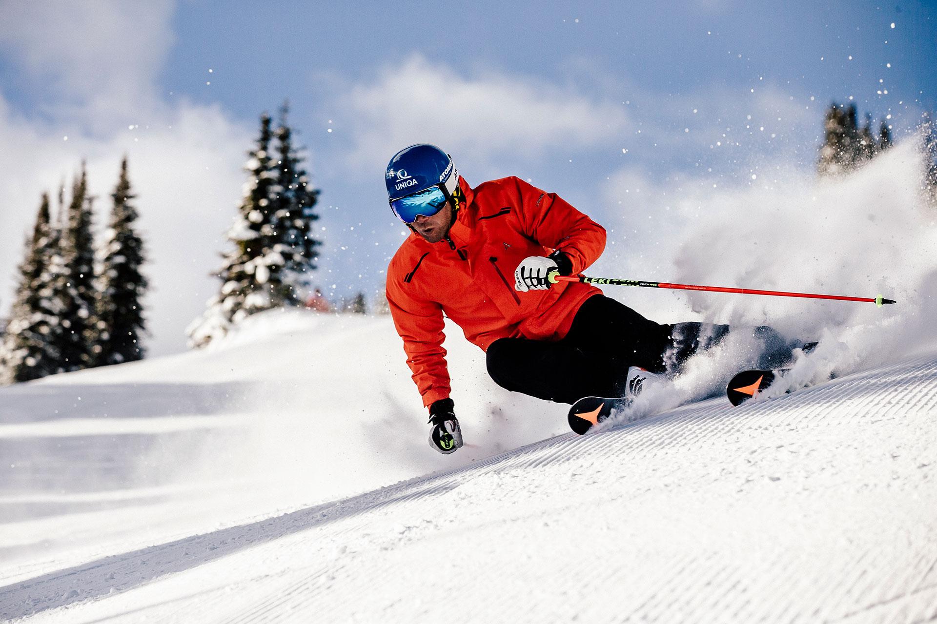 Fotograf Ski Alpin Benni Raich Fotoproduktion Piste Österreich Wien