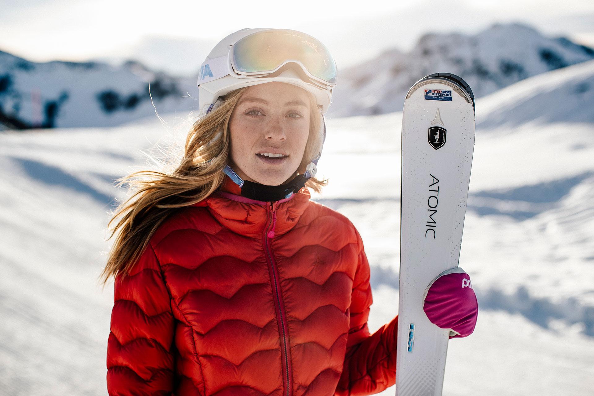 Portrait Fotograf Michael Müller Wintersport Skibekleidung Deutschland Winter