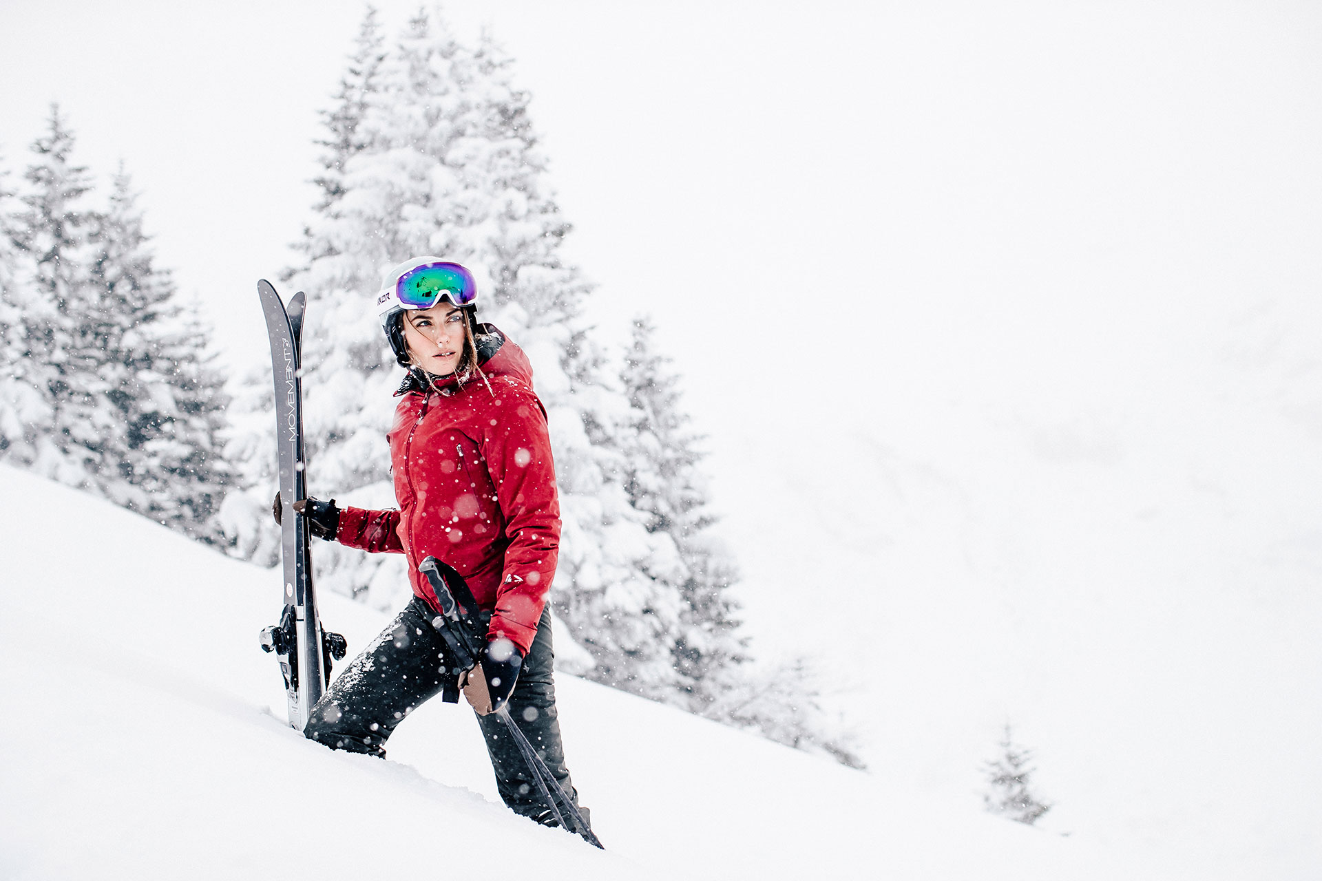 Wintersport Winter Ski Alpin Schneefall Foto Produktion Fotograf München Deutschland