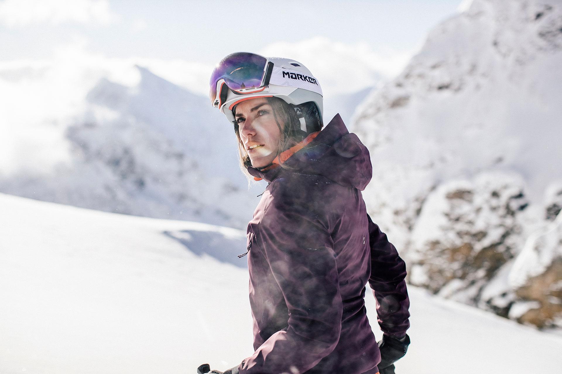 Stuttgart Winter Skip Alpin Fotoproduktion Fotograf Skibekleidung Schöffel