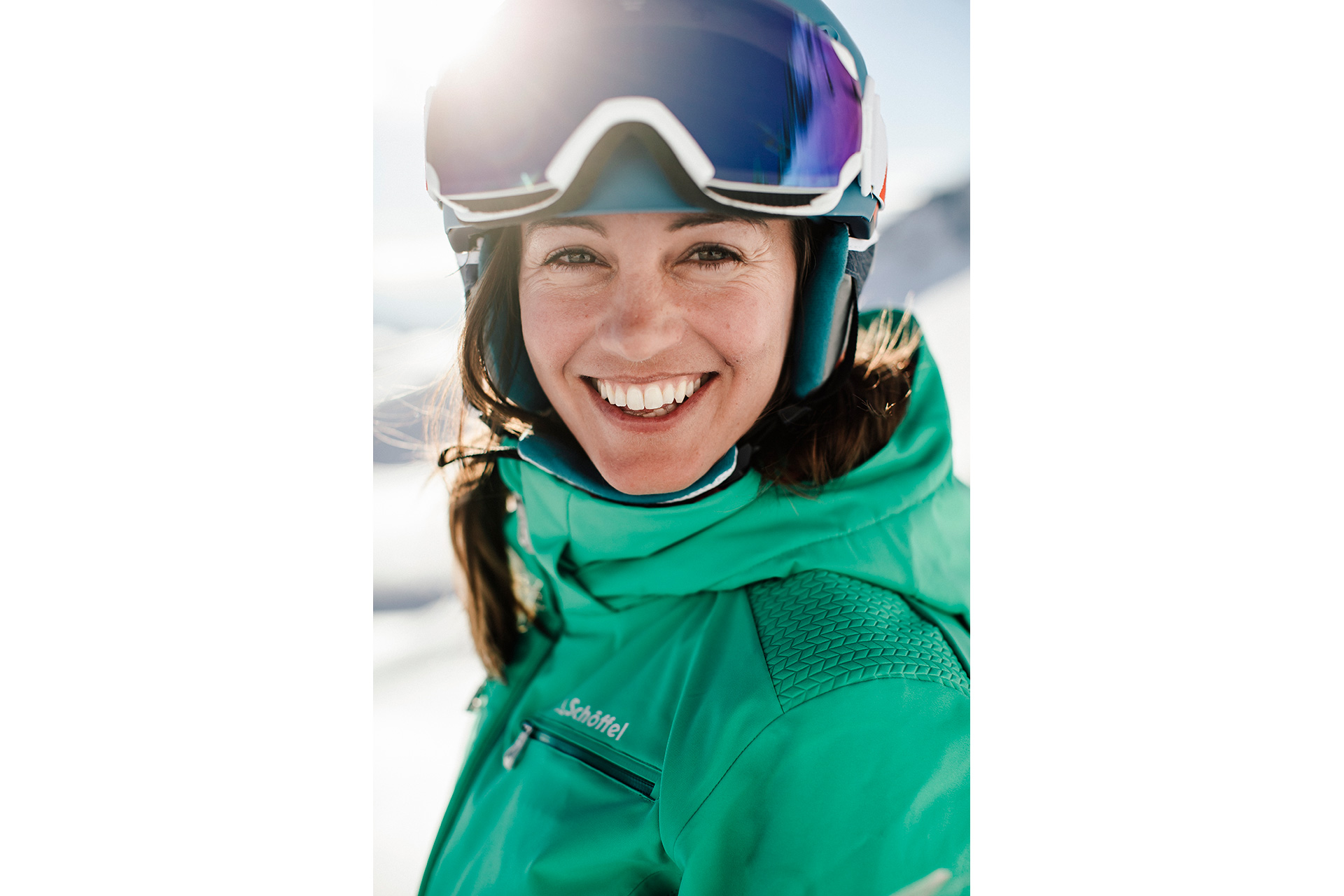 Portrait Fotograf Ski Alpin Skimode Schöffel Katalog Produktion Winter