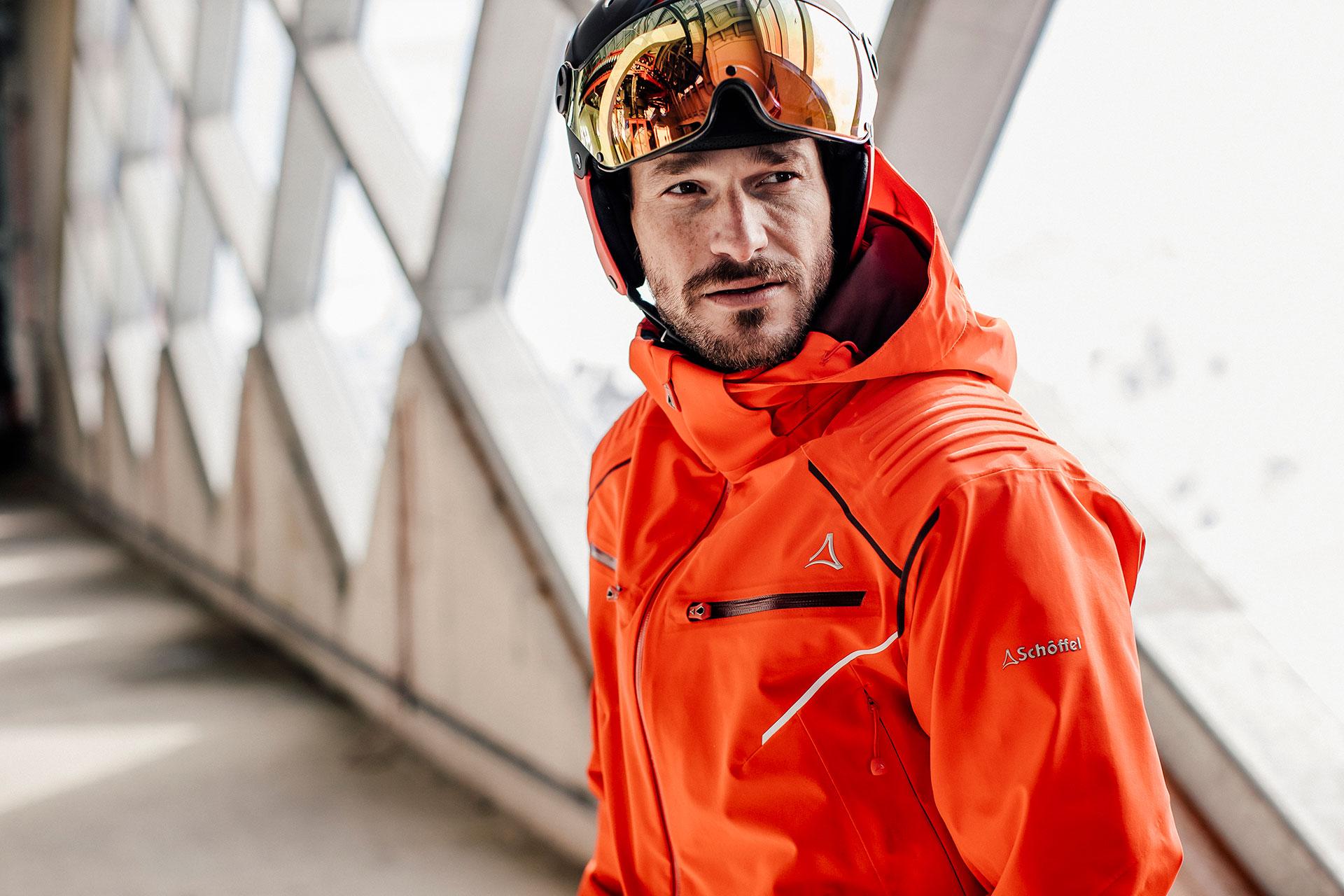 Skibekleidung Winter Katalog Fotograf Schöffel Architektur Sport München Deutschland