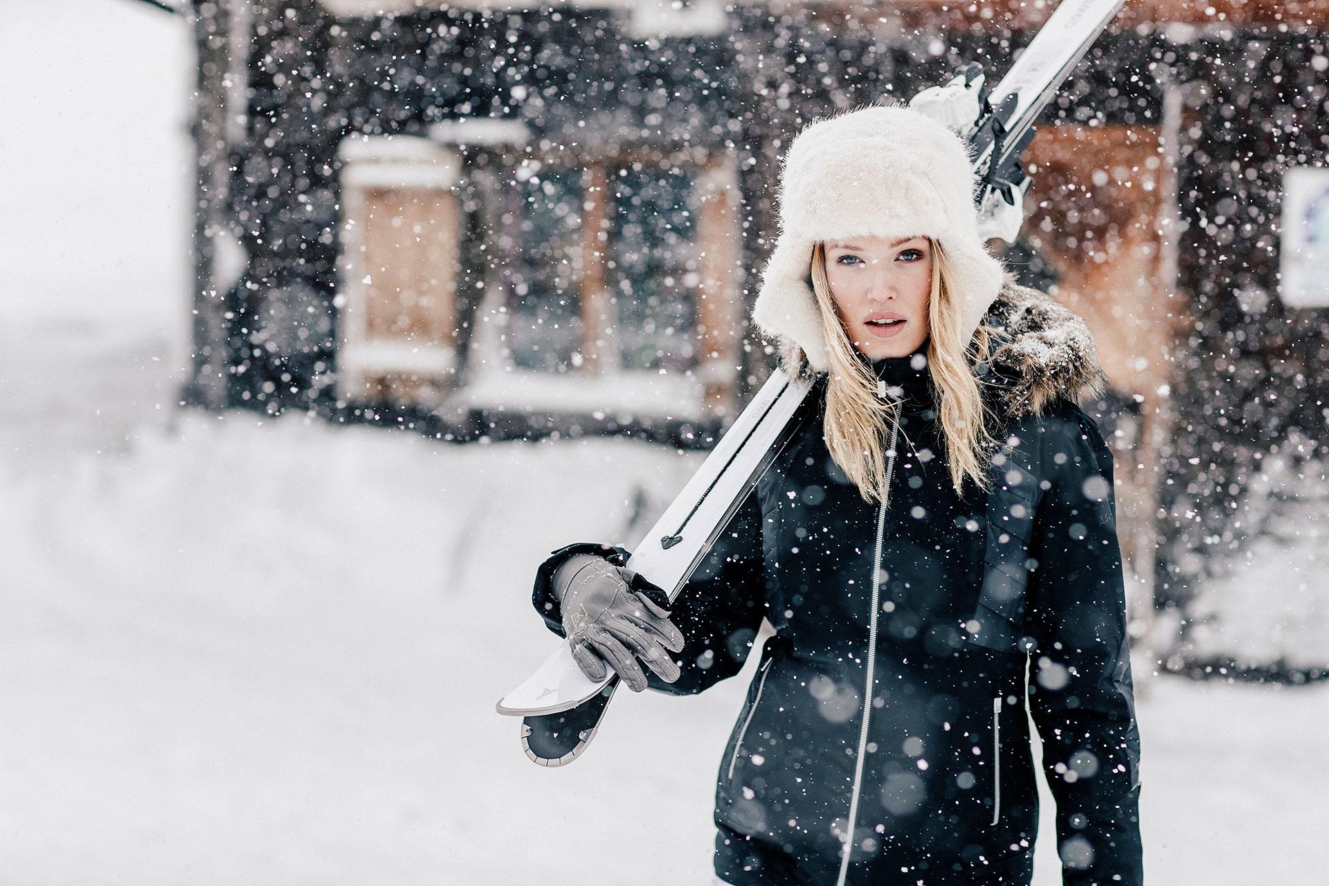Skimode Winter Fotograf Katalog Schöffel Fotoproduktion Schweiz London