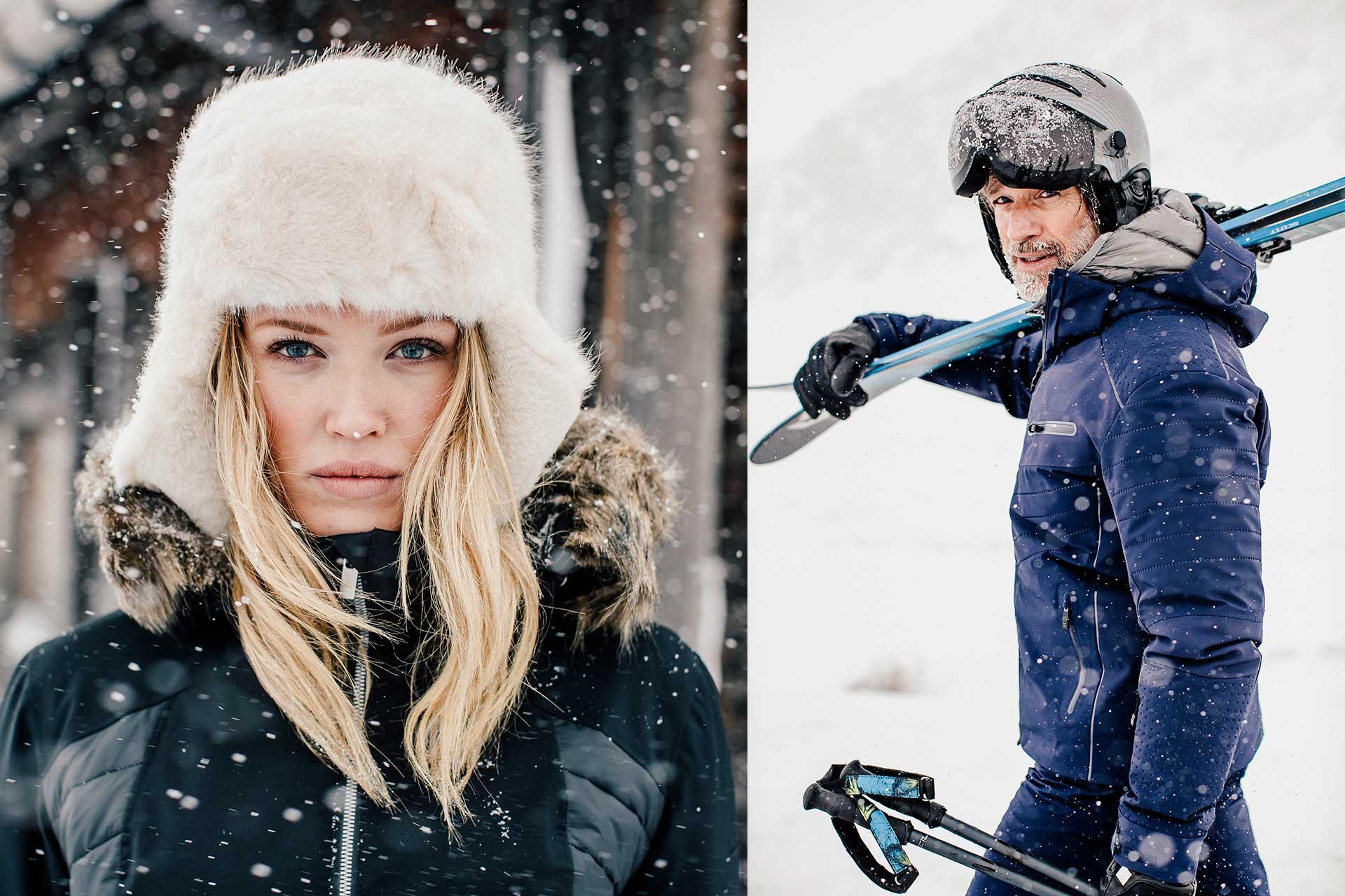 Skimode Wintersport Winter Fotoproduktion Portrait Katalog Schöffel Michael Müller
