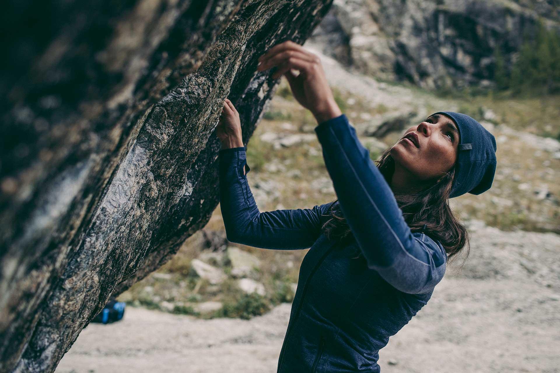 Fotograf Outdoor Sport Klettern Bouldern Kampagne