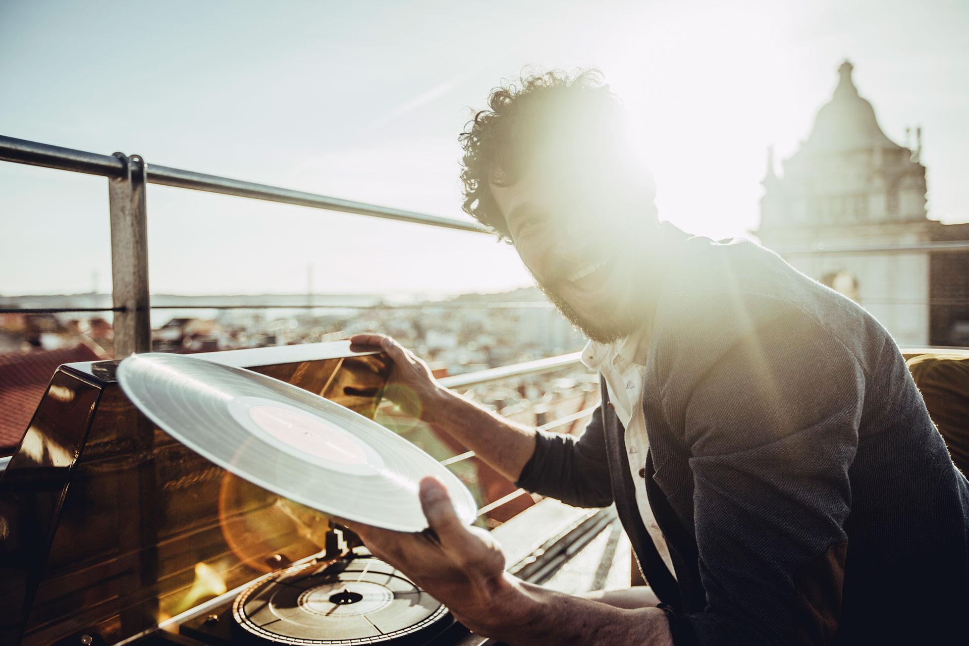 People Rooftop Lifestyle Fotograf Musik Feiern Hamburg Deutschland