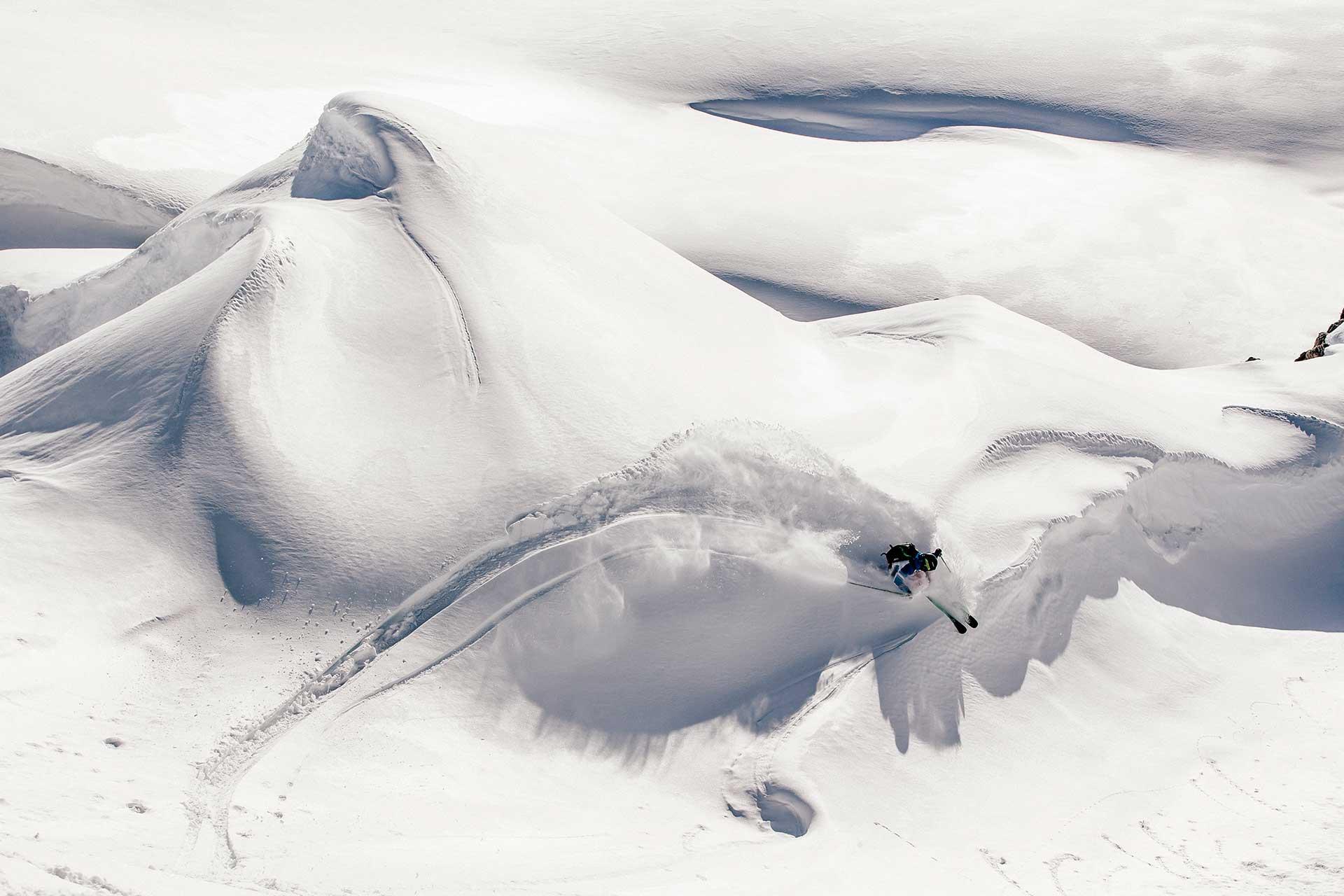 Fotograf Tiefschnee Wintersport Aktion Ski Hamburg Sportfotograf