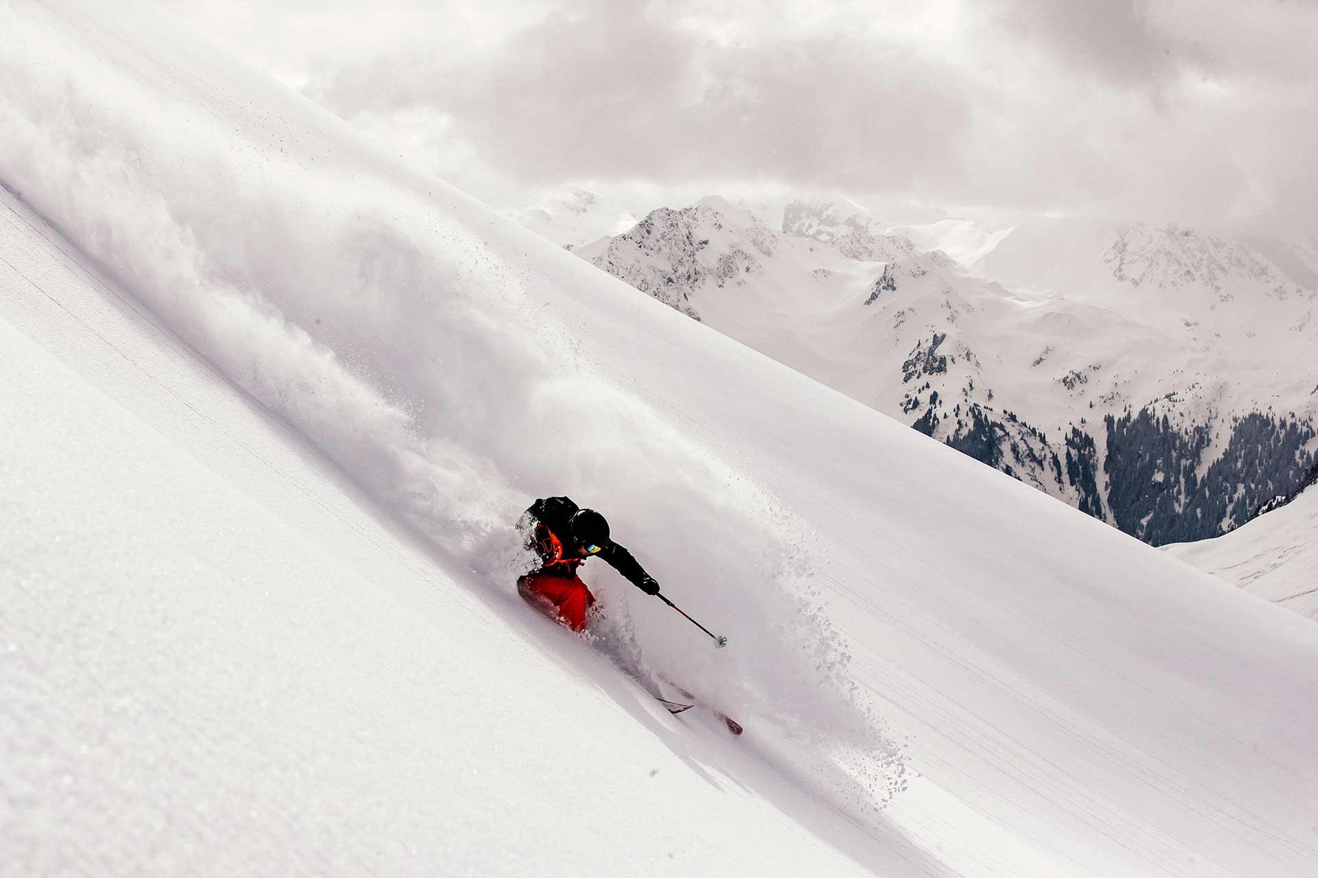 Ski Freeride Winter Sport Outdoor Fotograf Montafon Österreich