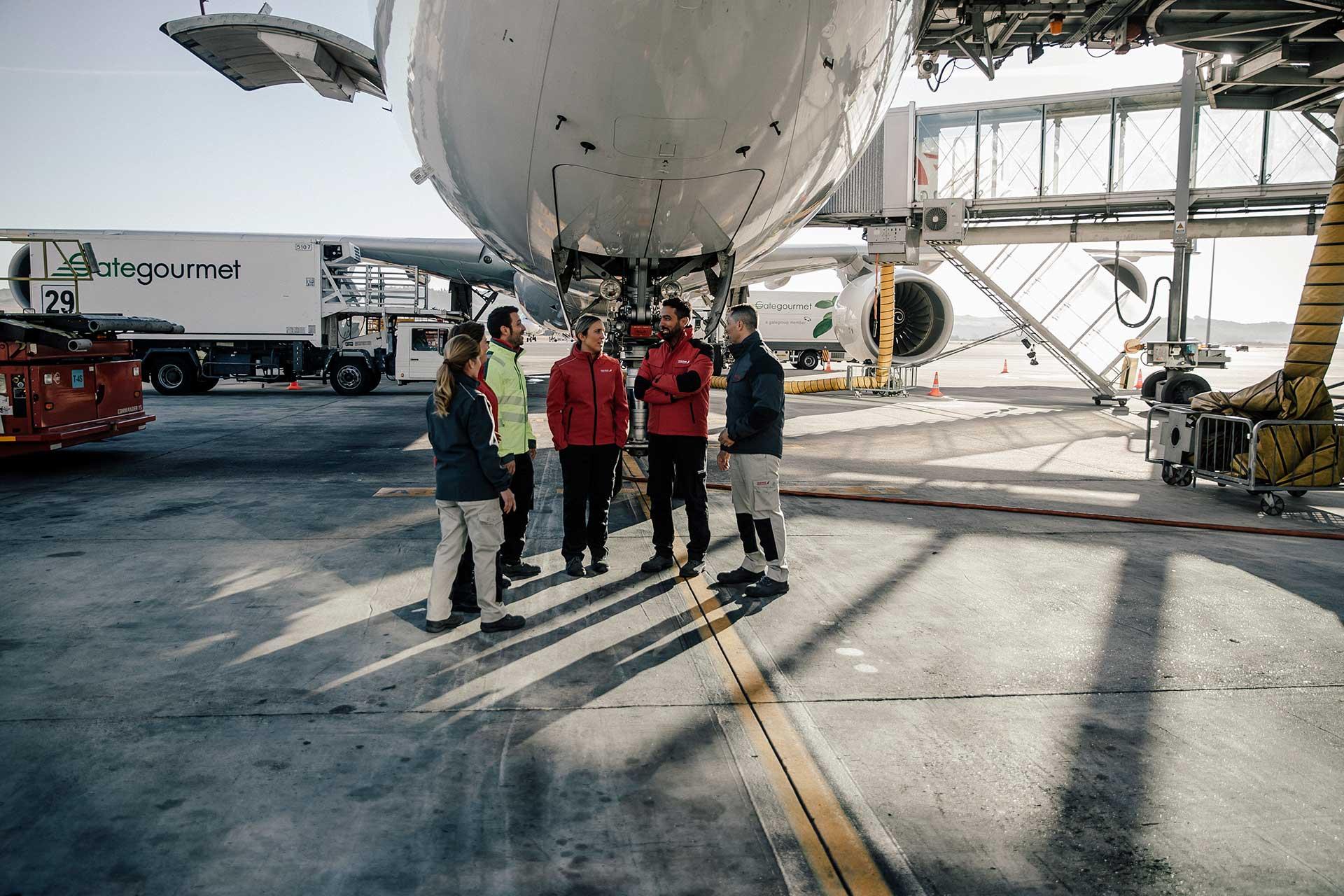 Airport Werbefotograf Michael Müller People Arbeitsbekleidung Iberia Deutschland