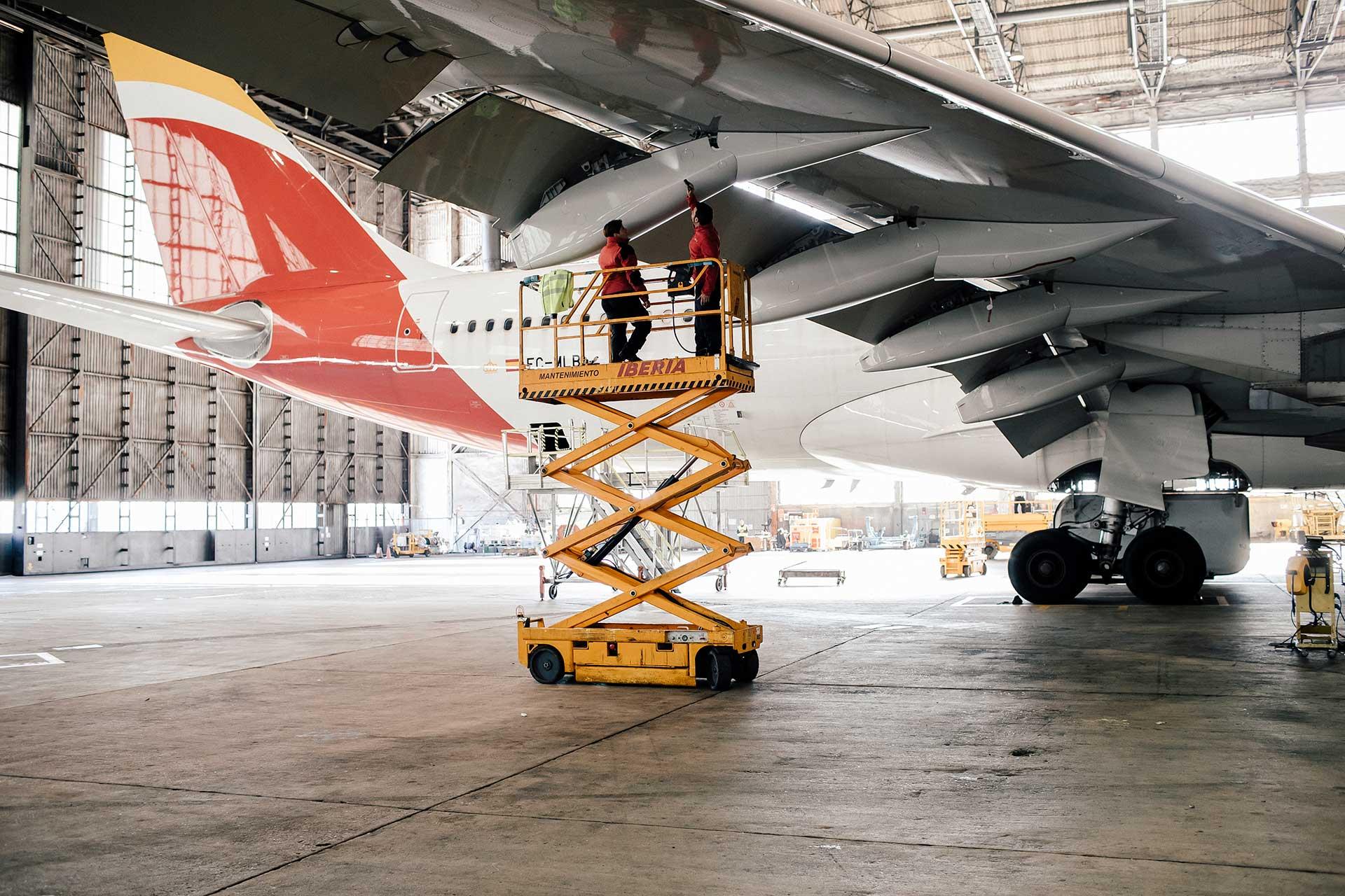 Flügel Flughafen Werbung Arbeitsbekleidung Industriefotograf Iberia New York