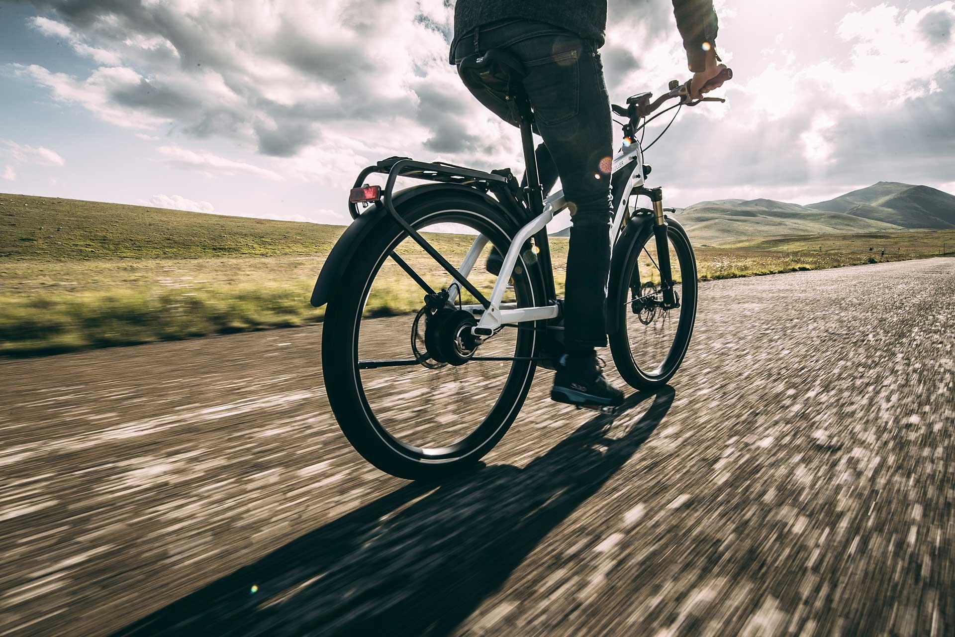Drivingshot Ebike Travel Fahrrad Riese Müller Hersteller Geschwindigkeit Hamburg Deutschland