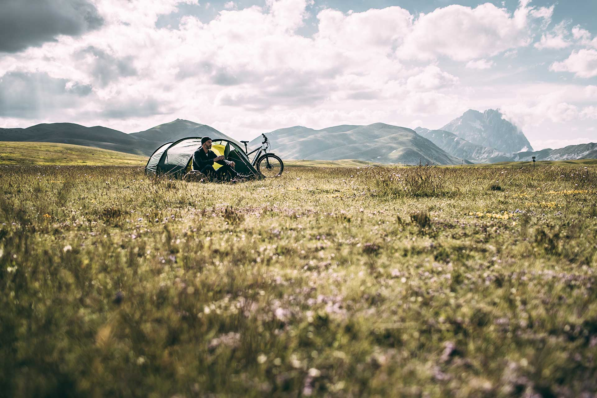 Camping Fahrrad Ebike Fotograf Riese Müller Campagne Katalog Michael Müller München