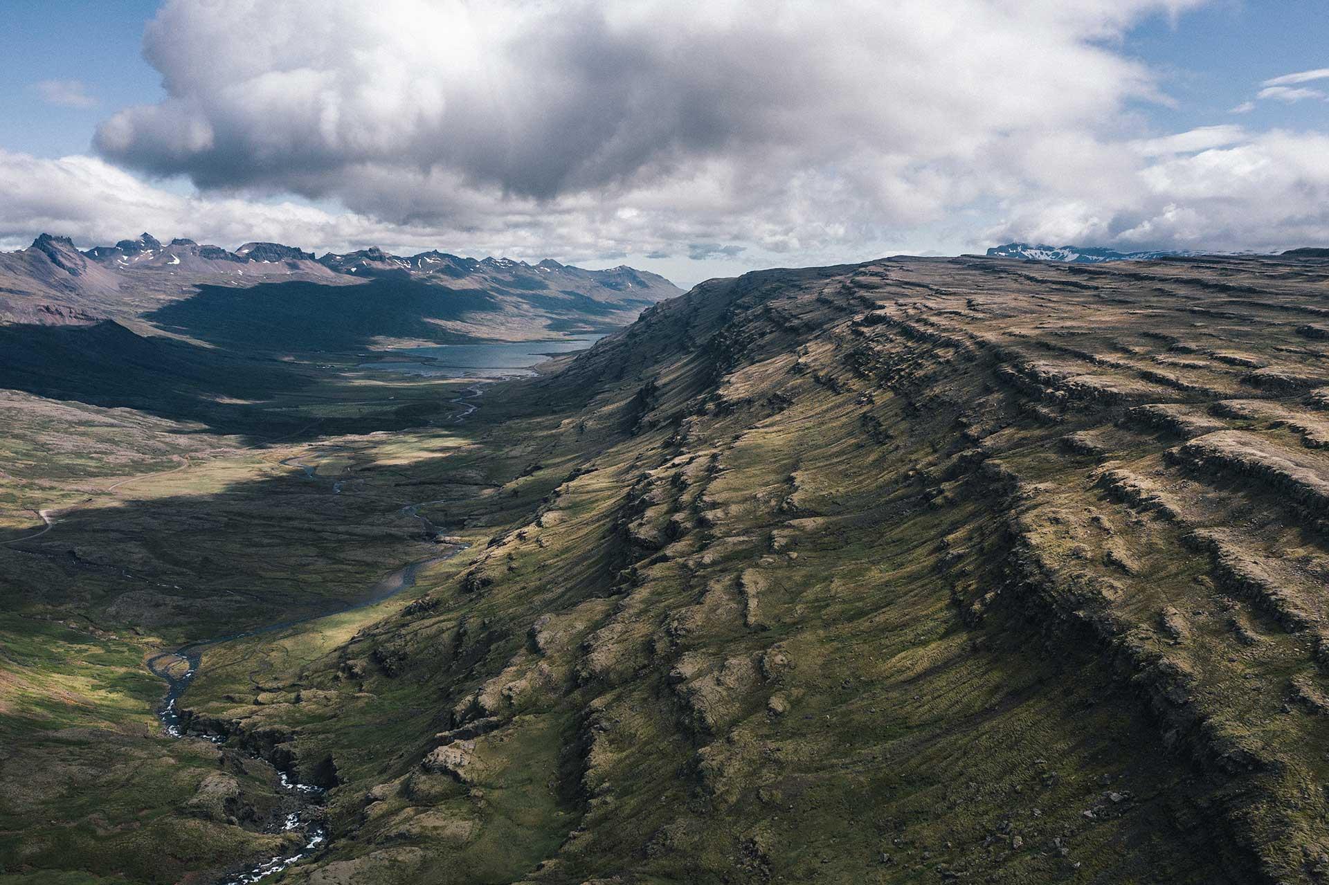 Fotograf Drohne DJI Mavic Landschaft Panorama Auto Engelhorn Island