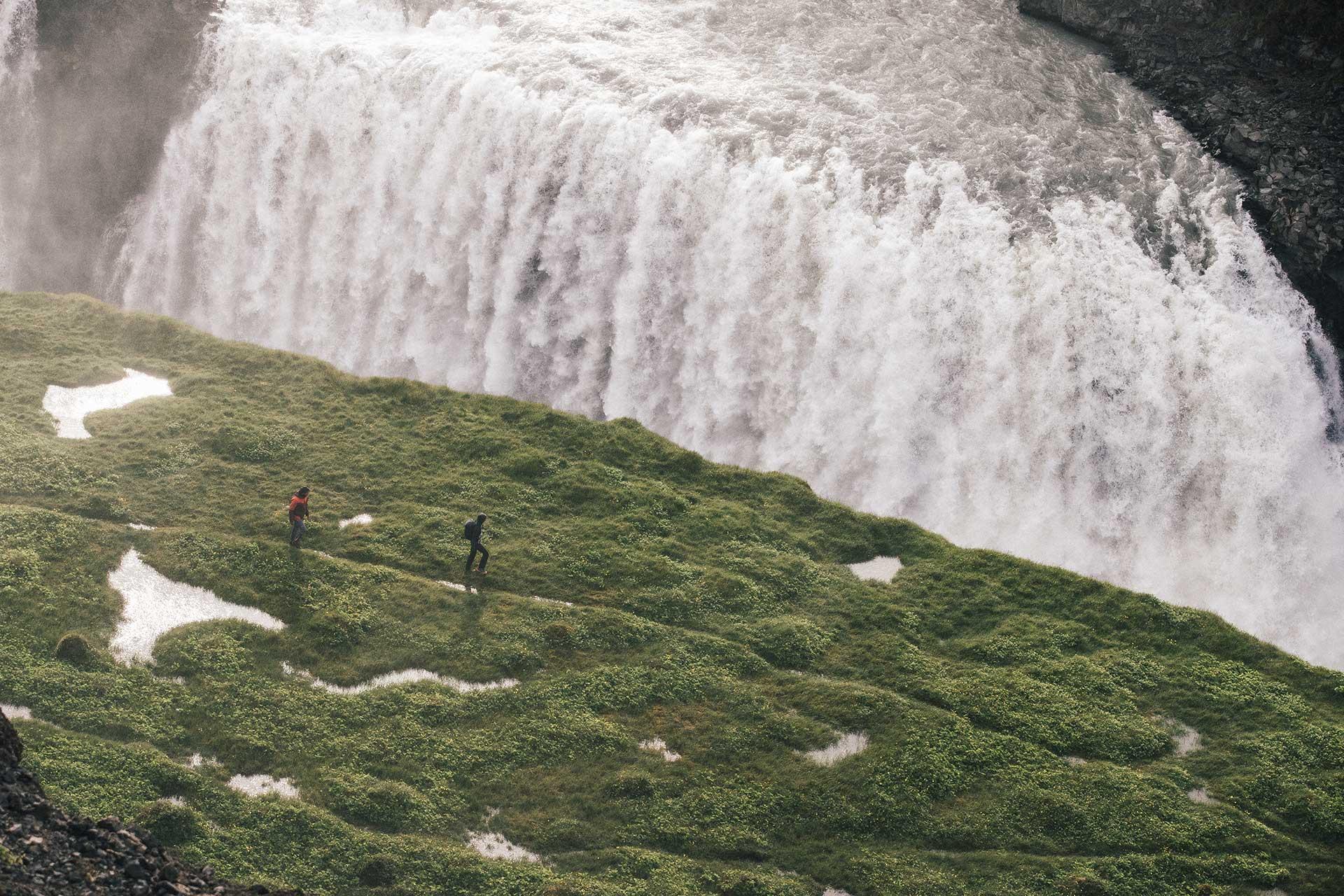 Wasserfälle Fotograf Travel Reisen Landschaft Island Outdoor Gullfloss Wandern