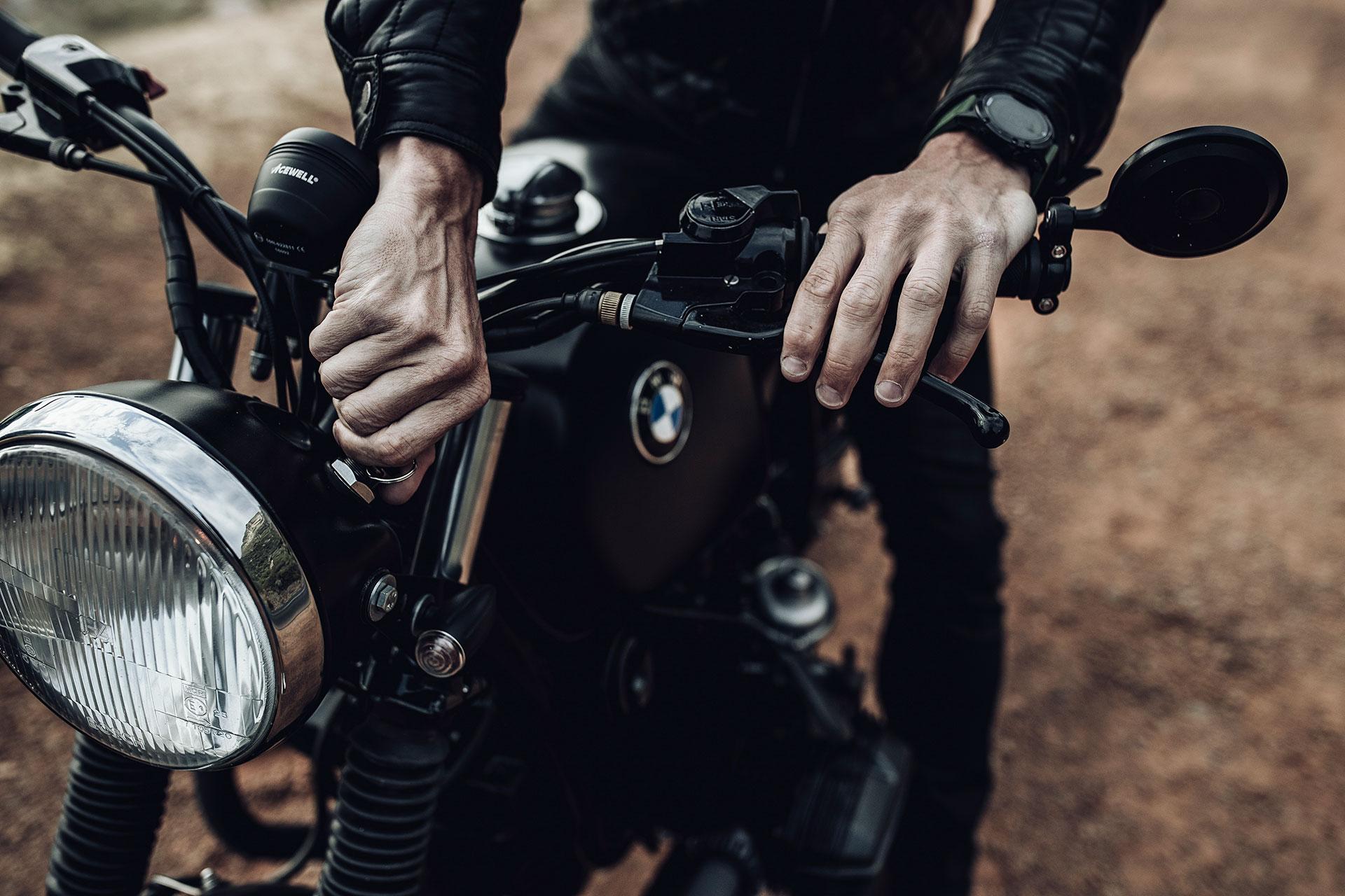BMW Cafe Racer Motorrad Automotive Fotograf Lifestyle München Detail
