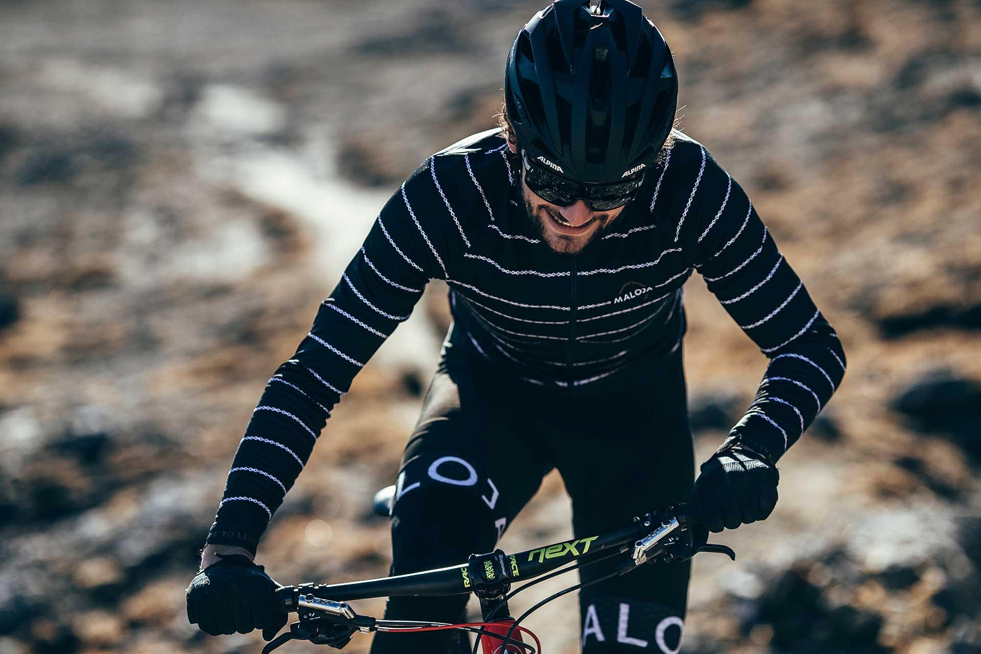 Bikewear Sport Aktion Fotograf Mountainbike Maloja Outdoor