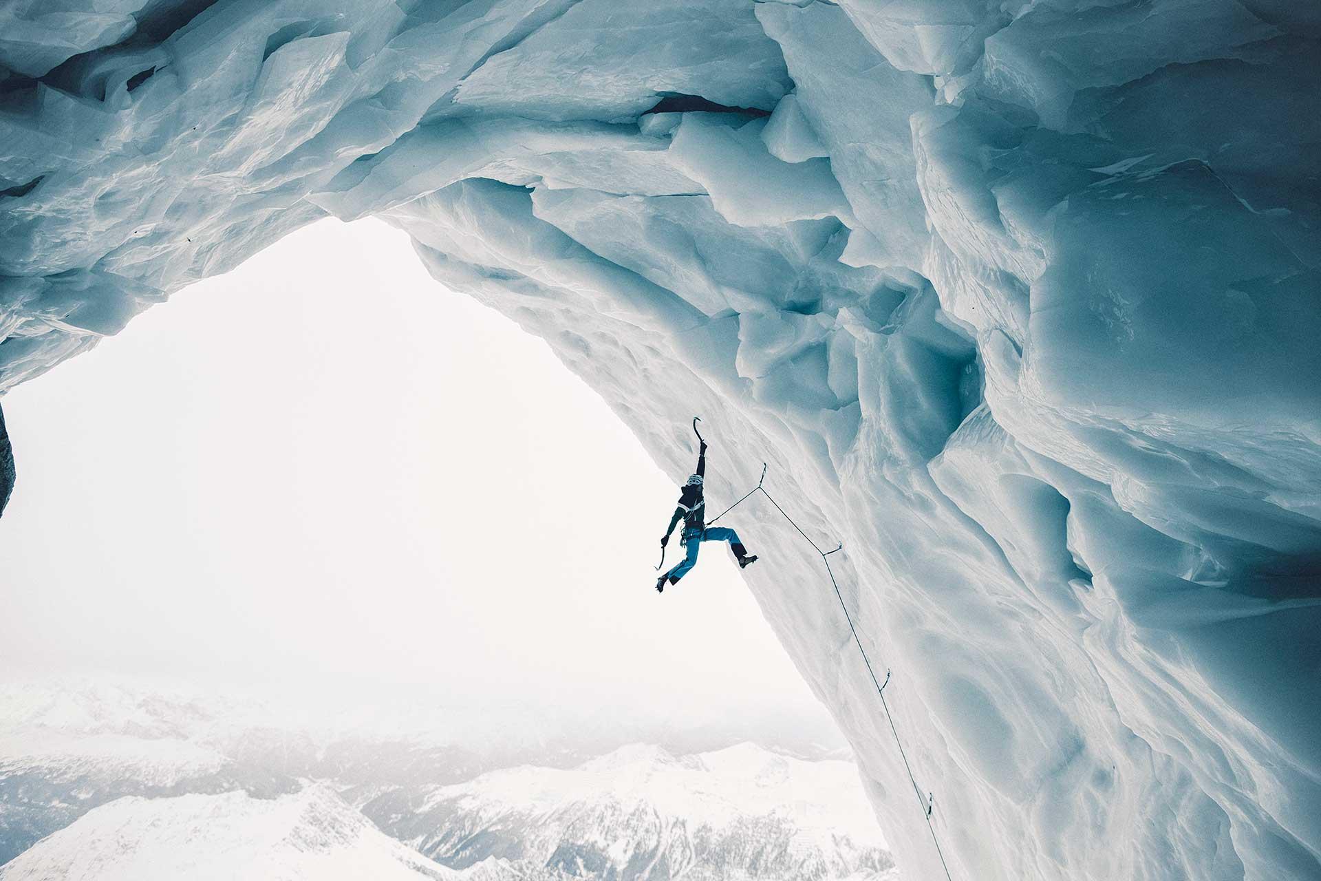 Eisklettern Extremsport Fotograf Landschaft Michael Müller Berge Eis München
