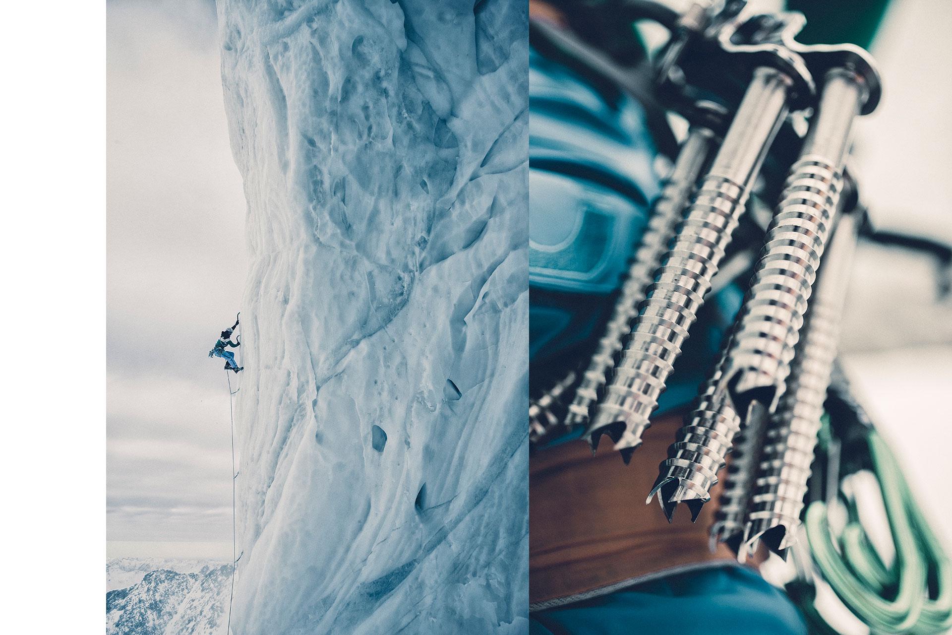 Maloja Eisklettern Wintersport Extremsport Berge Fotograf Michael Müller