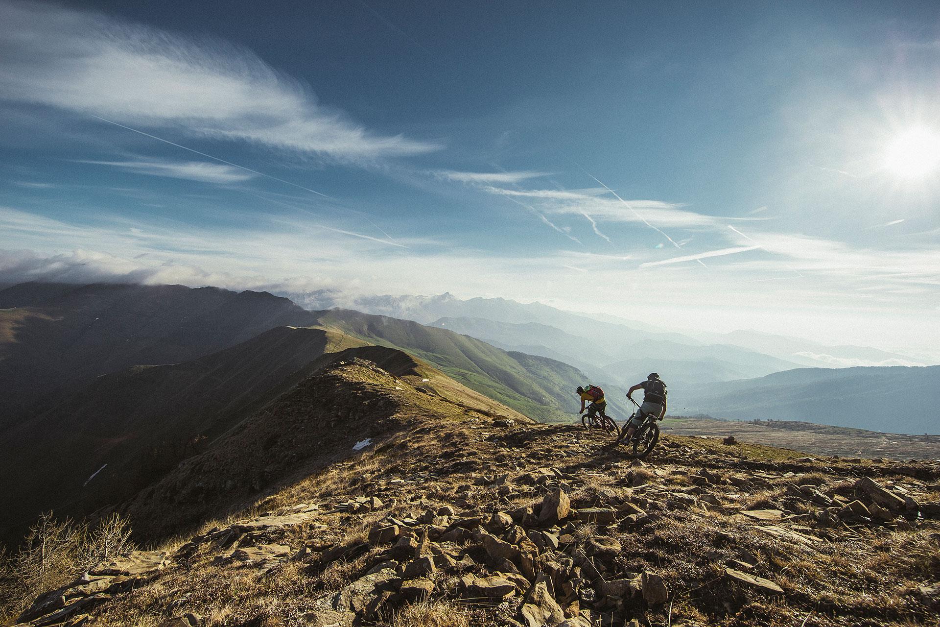 Berge Sport Outdoor Mountainbike Landschaft Fotograf Maloja Deuter Frankfurt