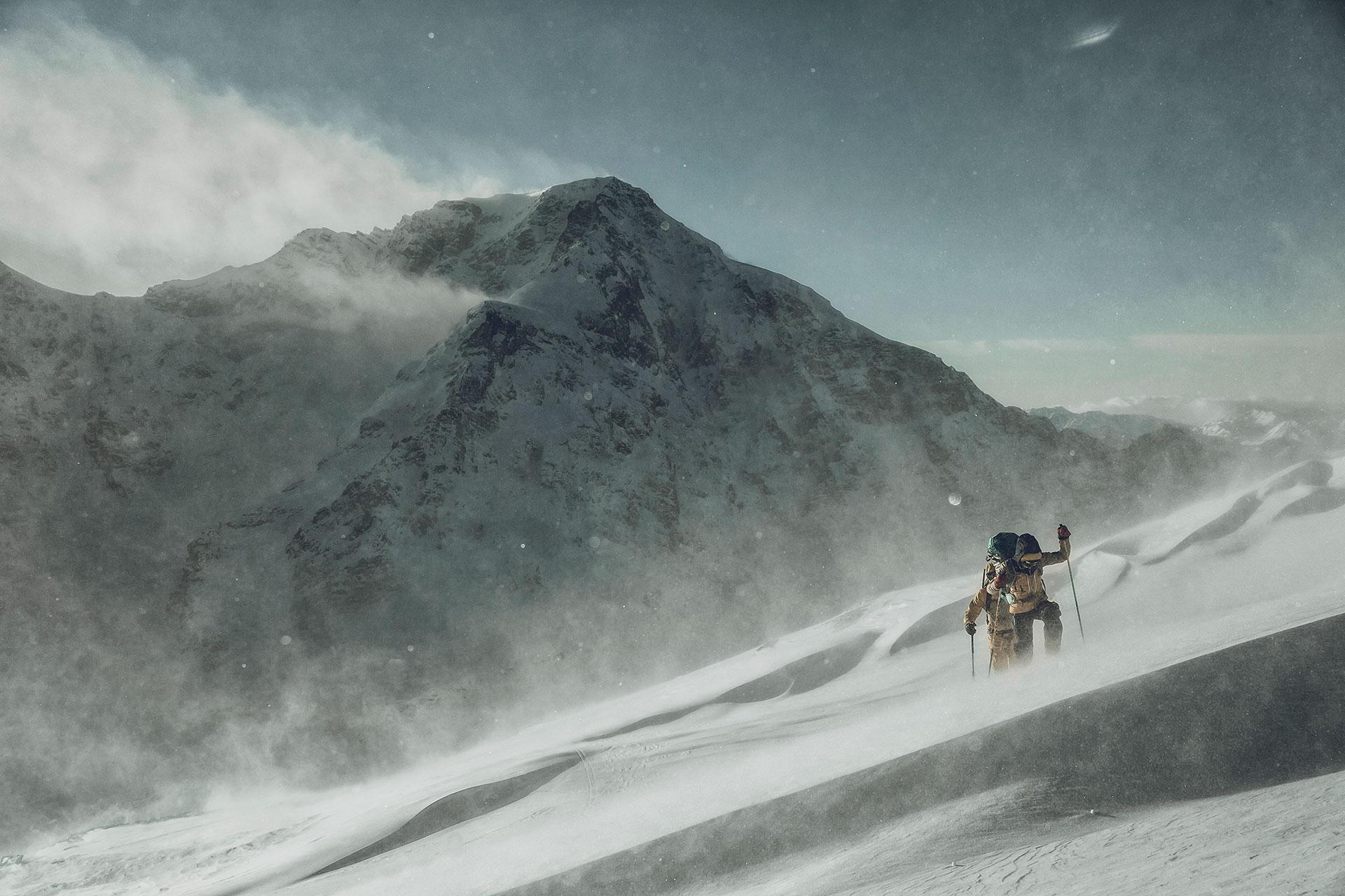 Fotograf Skitour Aufstieg Alpin Landschaft Berge Berlin Deutschland