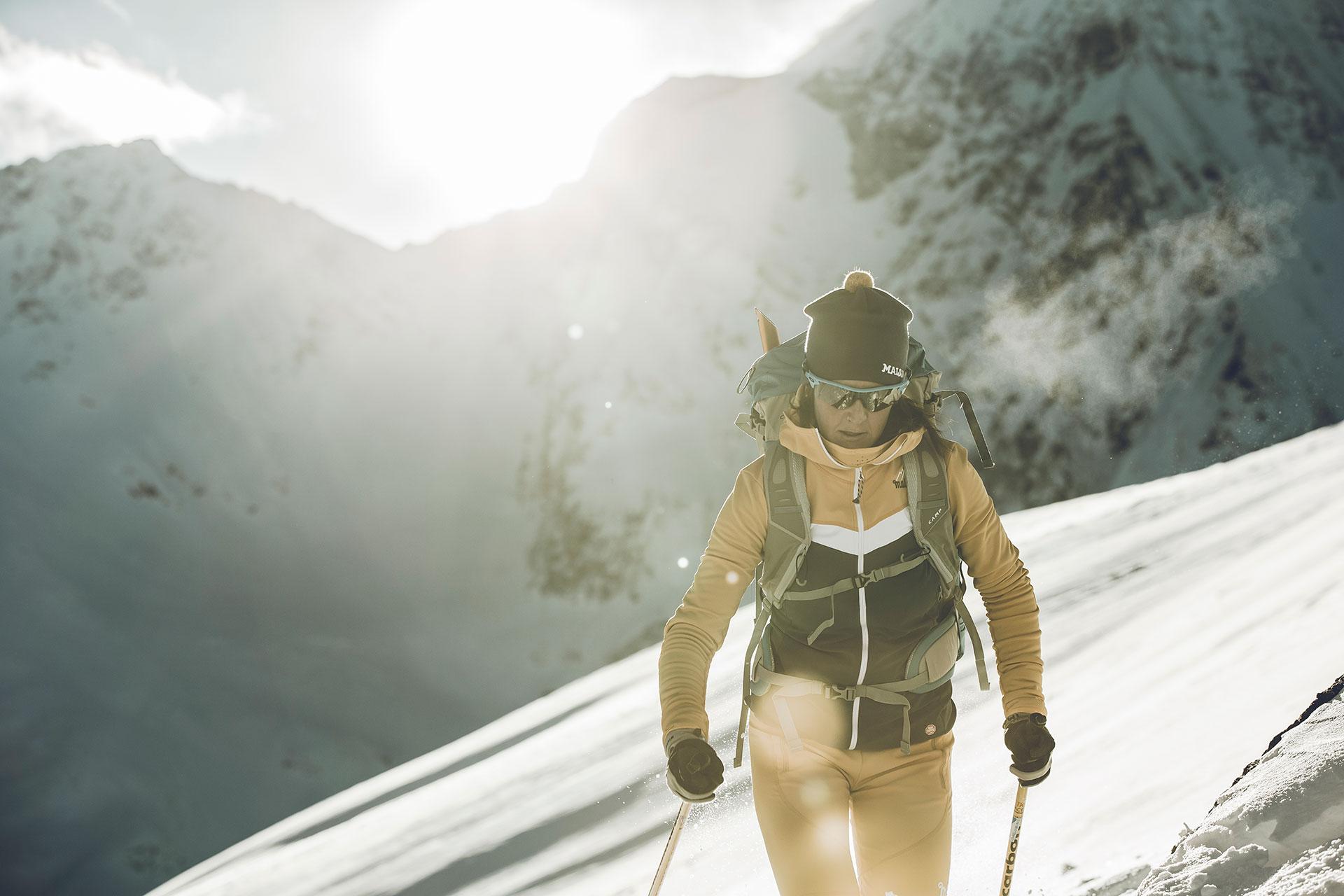 Alpin Skitour Aufstieg Fotograf Winter Frankfurt Deutschland Schnee