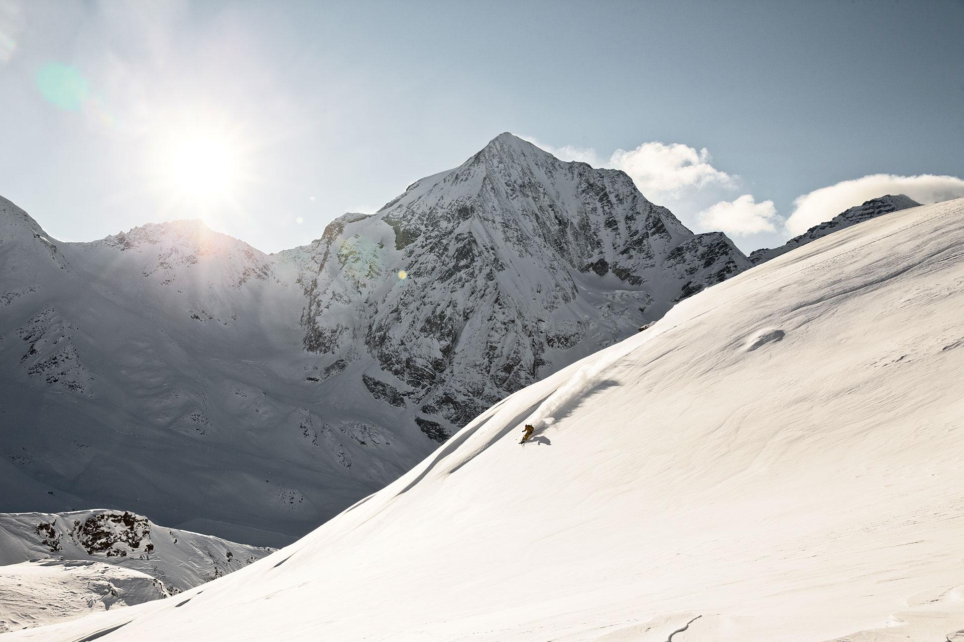 Gegenlicht Fotograf Landschaft Berge Alpen Winter Fotoproduktion Michael Müller Frankfurt Deutschland