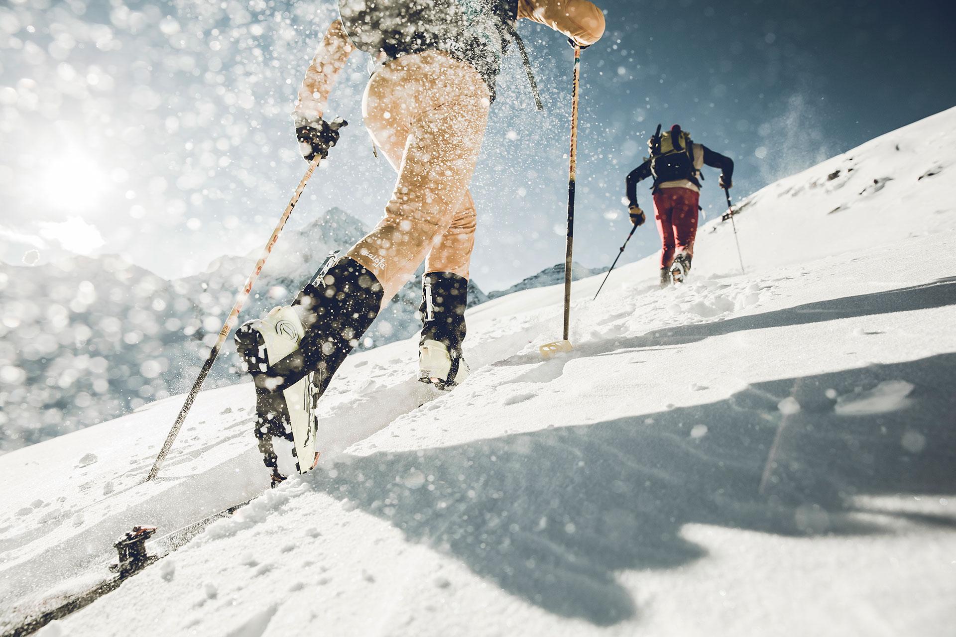 Skitour Aufstieg Winter Alpin Fotoproduktion Michael Müller Landschaft Hamburg
