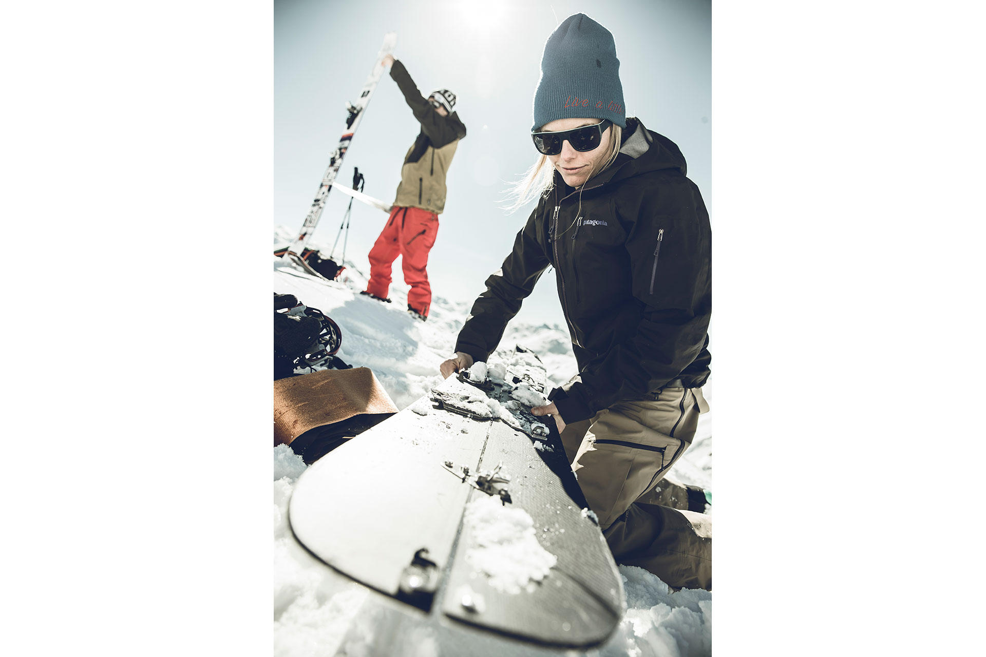 Tour Winter Splitboard Sportfotograf Winter Fotoproduktion Tiefschnee Salzburg Österreich