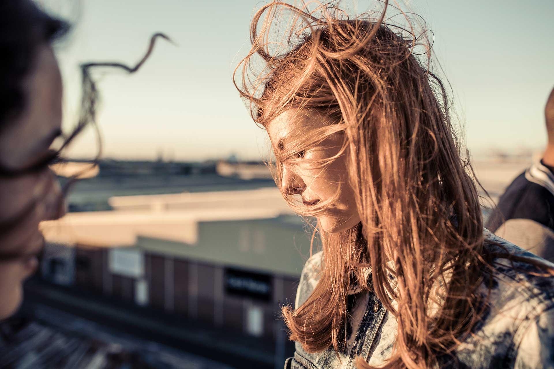 Lifestyle People Wind Rooftop Kapstadt Models Girls Fotograf