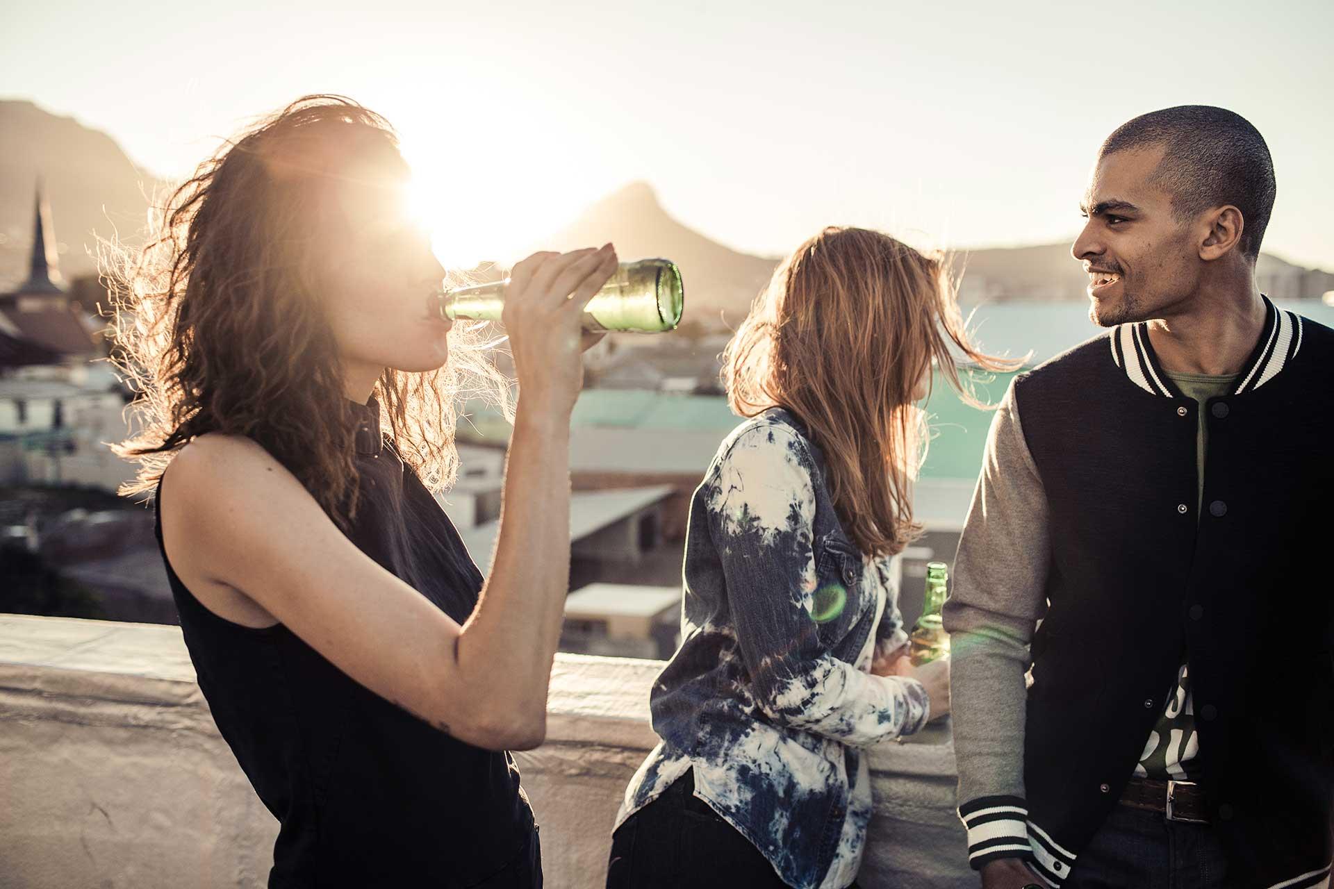 Bier Werbung Fotoproduktion Lifestyle People Kapstadt Rooftop