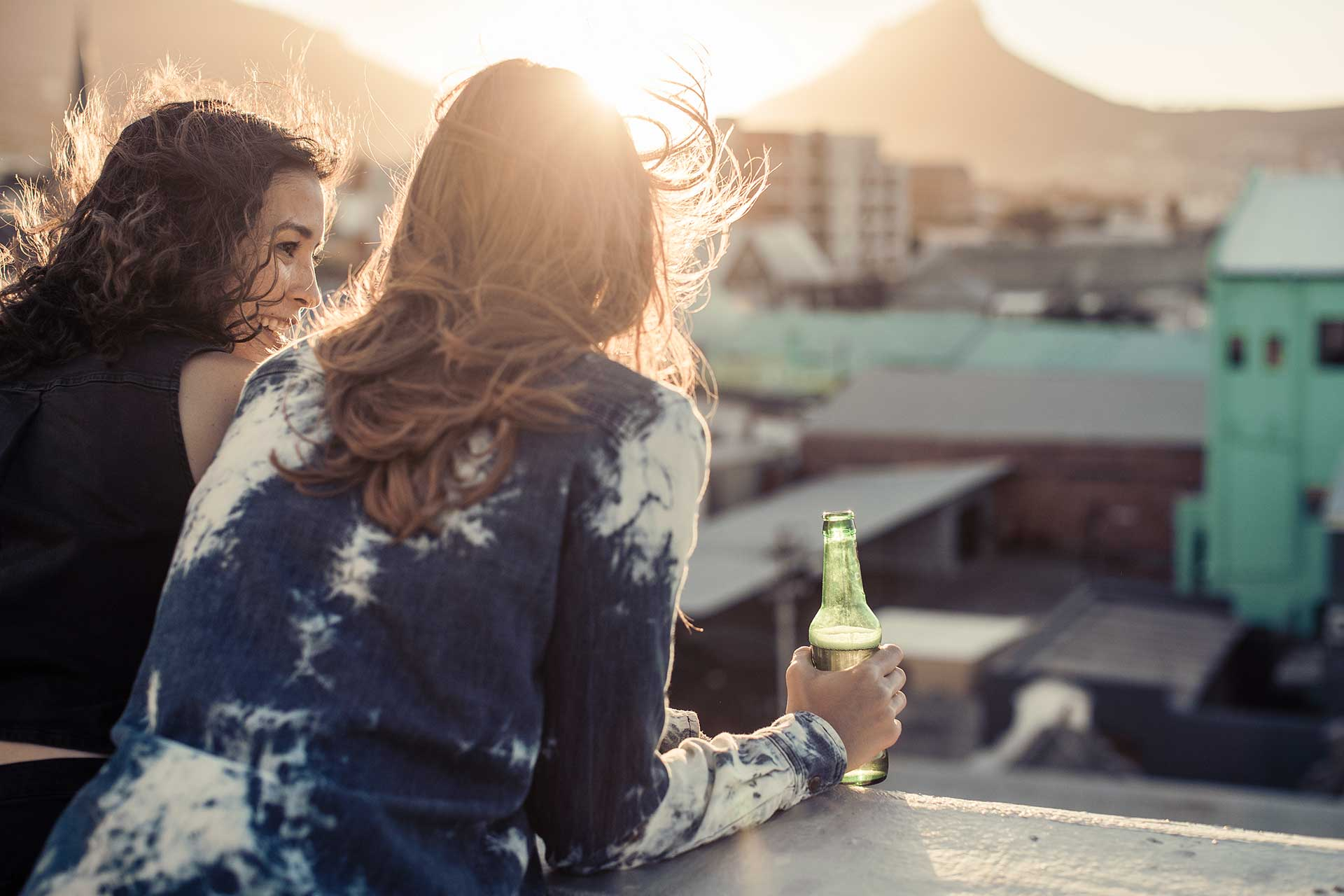 Bier Rooftop Party Lifestyle Fotograf Werbung Kapstadt