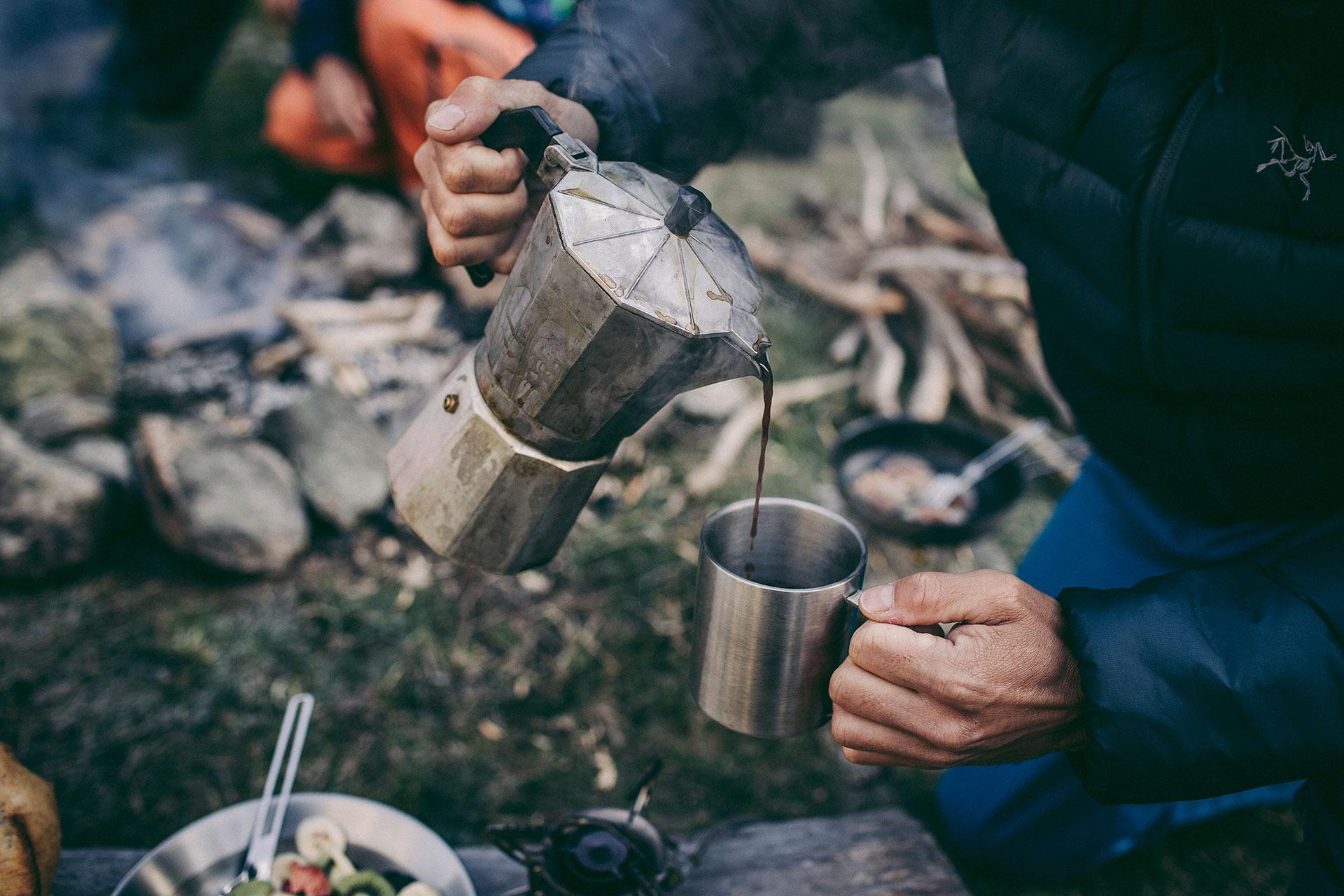 Kaffee Kochen Fotografie Camping Sport Berge Zürich Schweiz Michael Müller