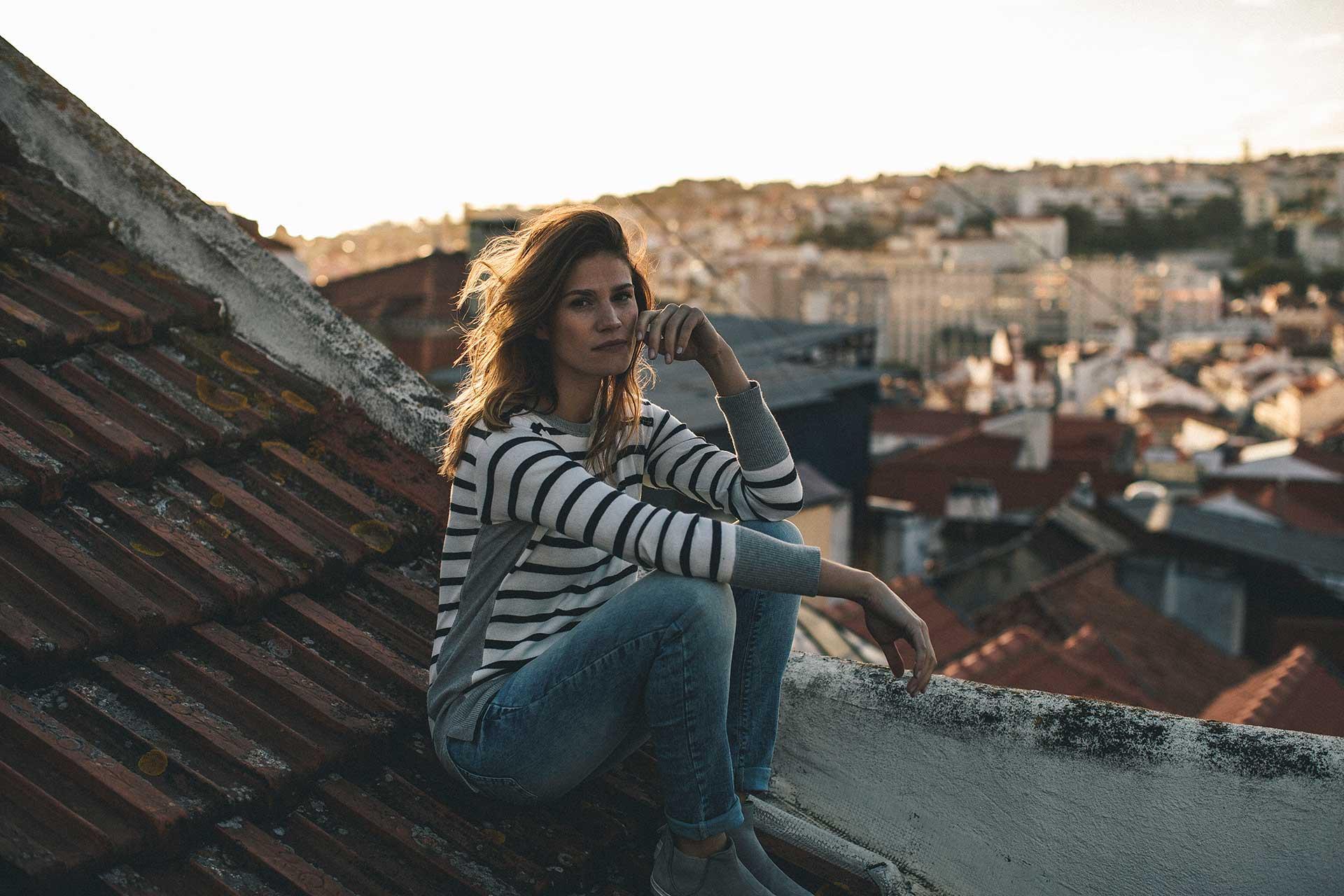 Fotograf Sonnenuntergang Portugal Rooftop Streetwear