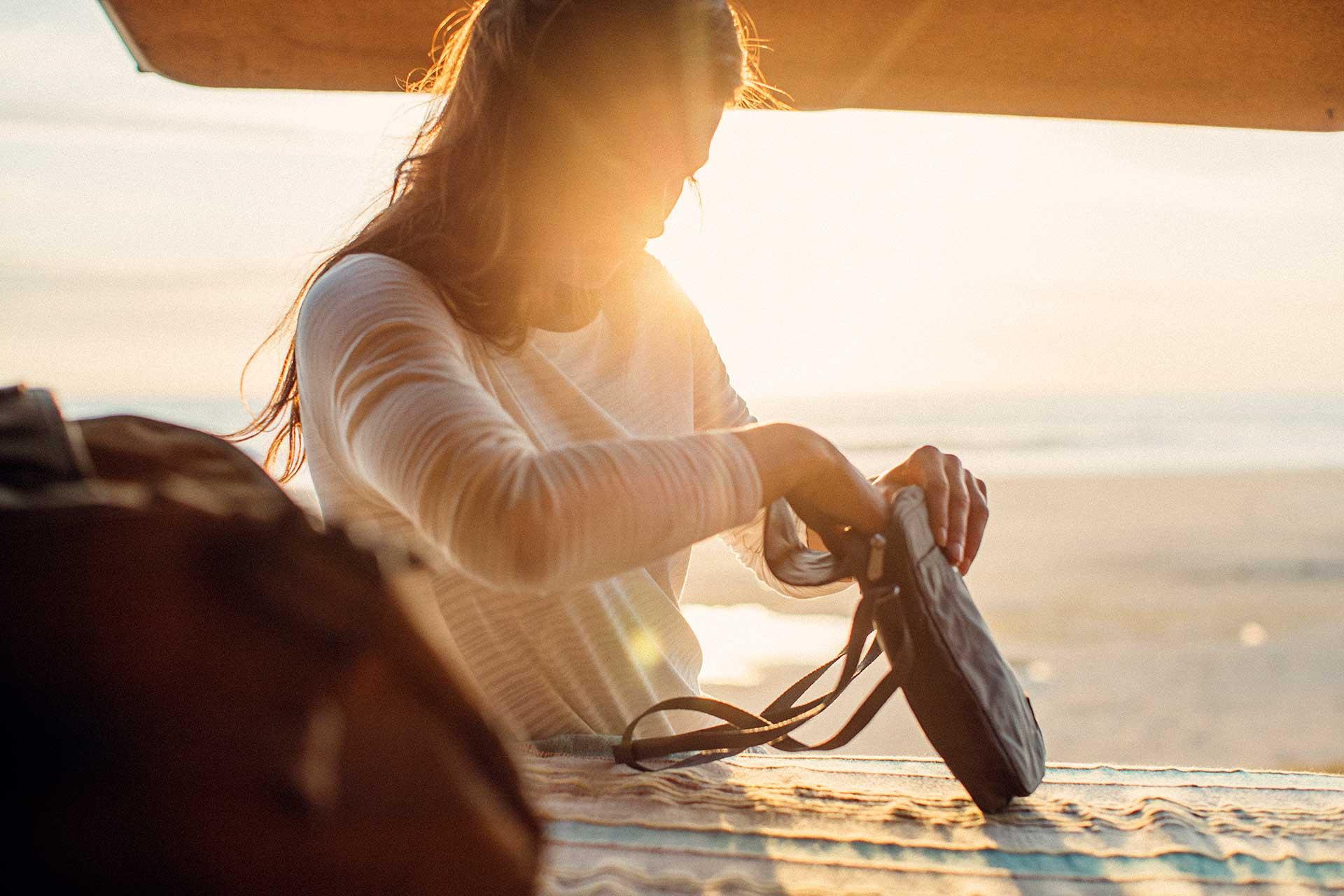 Sonnenuntergang Gegenlicht Porträt Engelhorn Vanlife People Lifestyle Fotograf