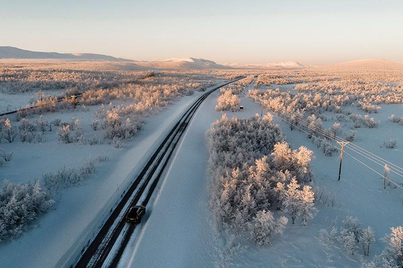 Drohne Automotive Panorama Landschaft Fotograf Schweden Polarkreis Michael Müller