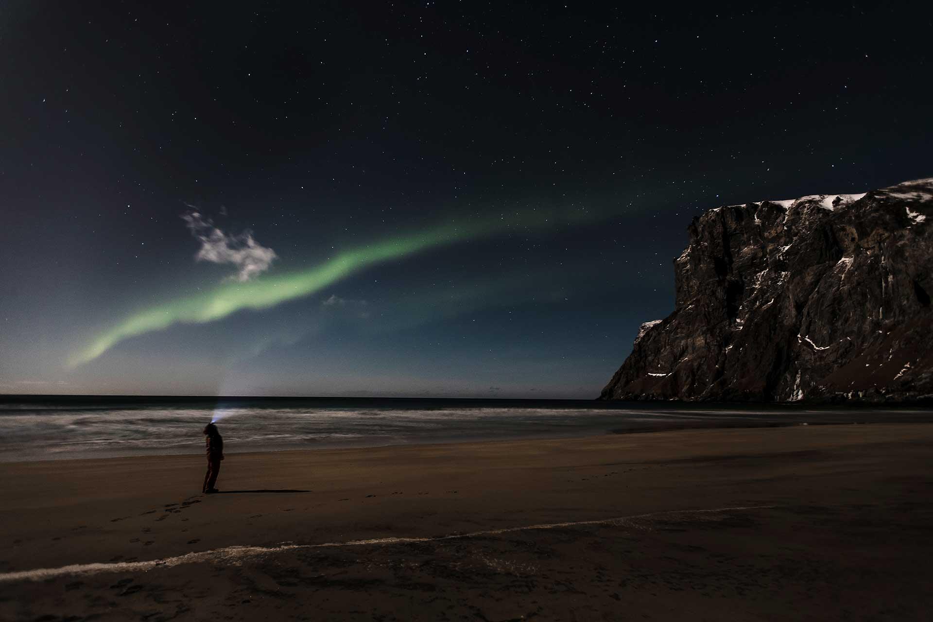 Polarlichter Lifestyle People Norwegen Nacht Landschaft Fotografie Michael Müller